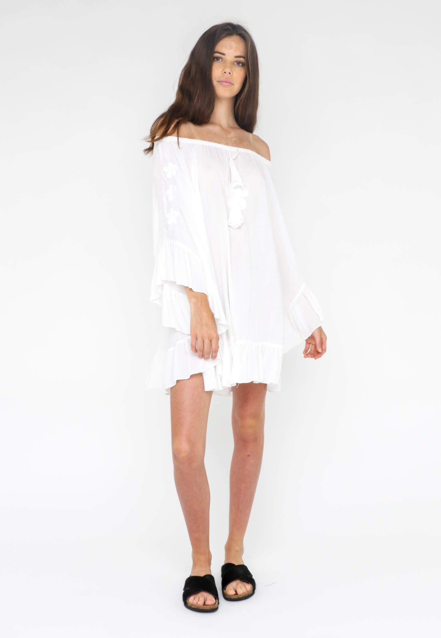 All About Eve  - Goddess Beach Dress - White