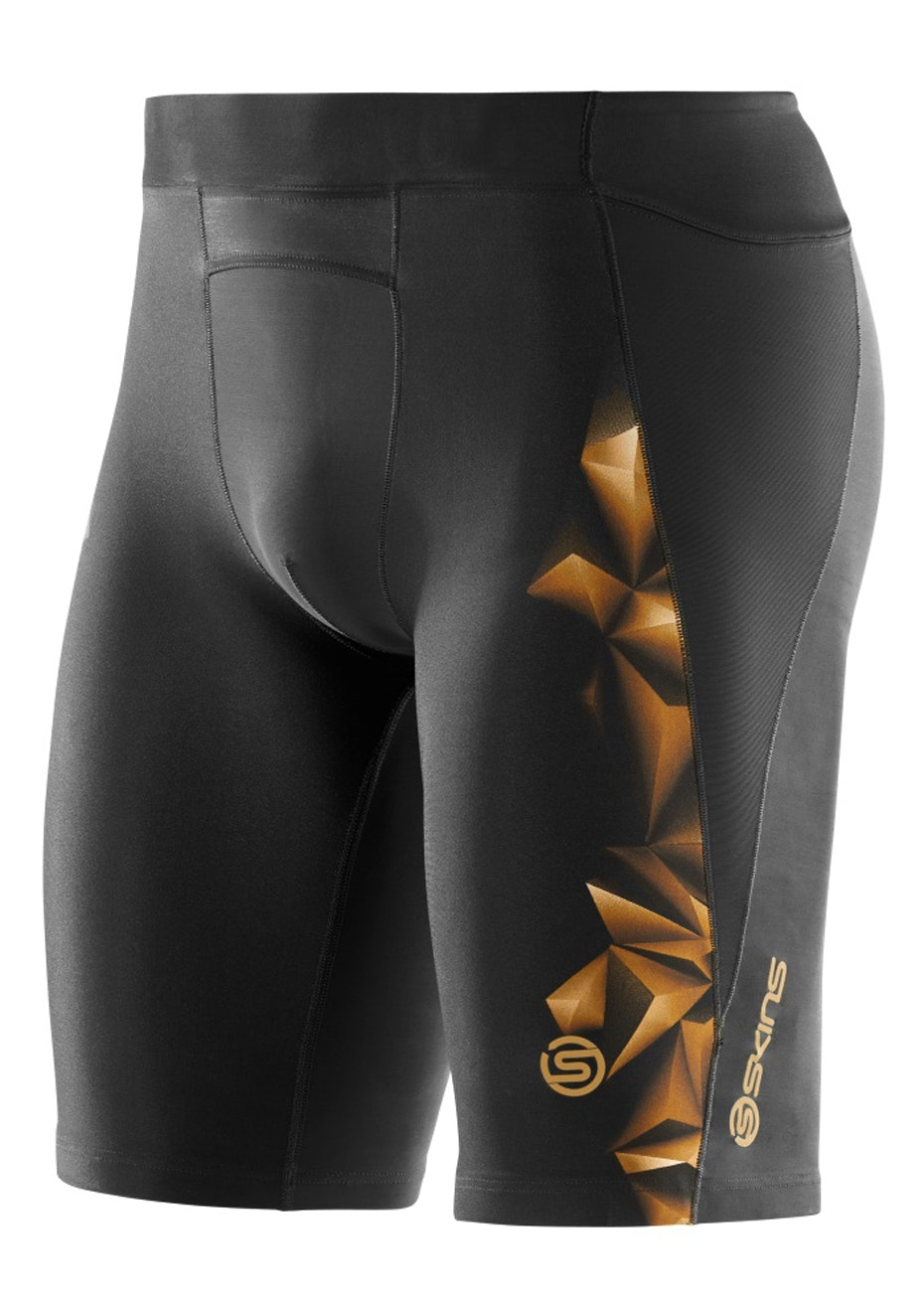 Skins - A400 Mens Gold Half Tights