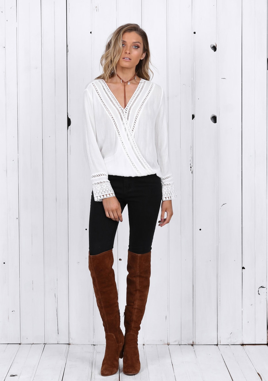 Madison - LUCILLE TOP - WHITE