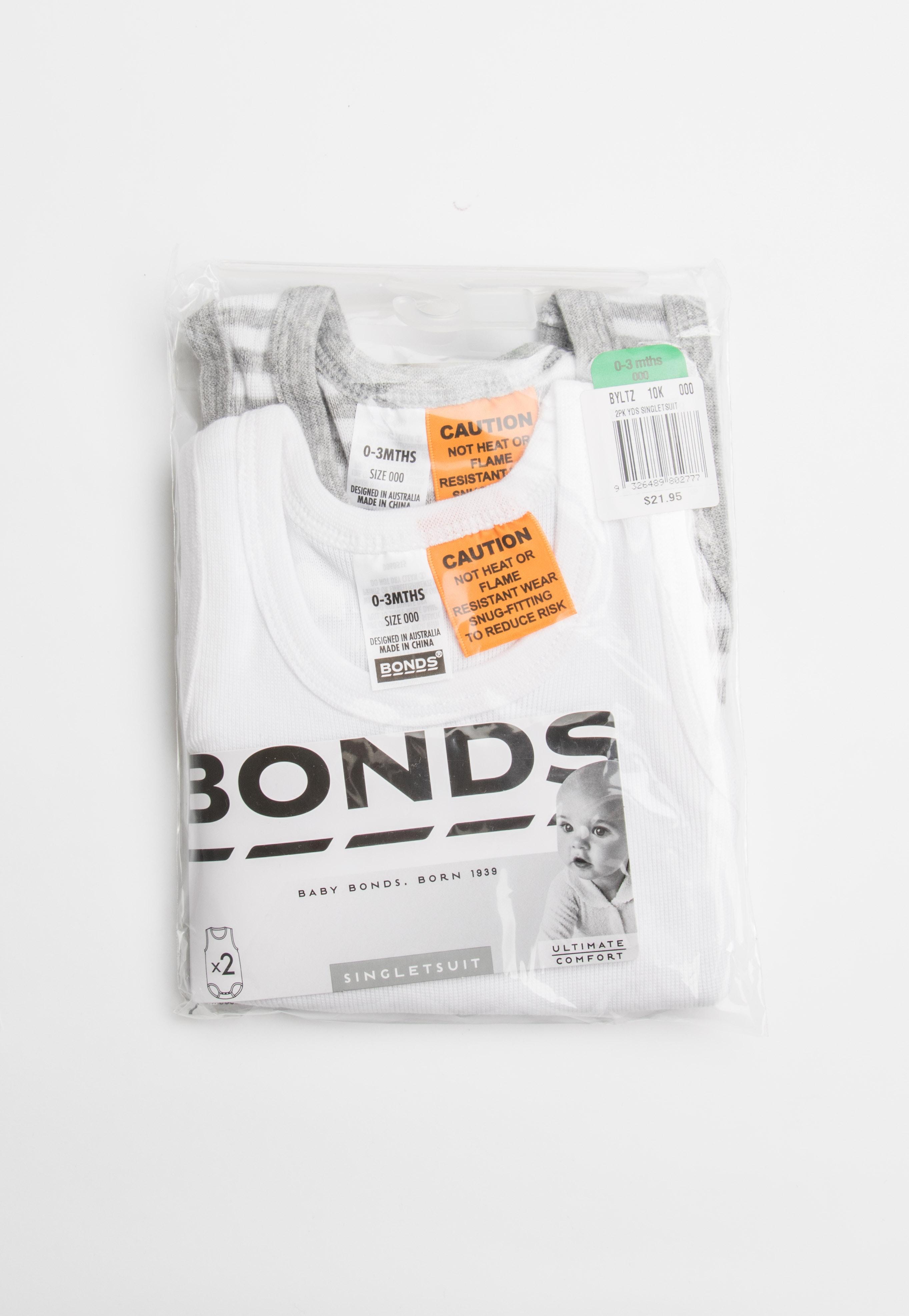 BONDS - 2Pk Singletsuit - Pack 10