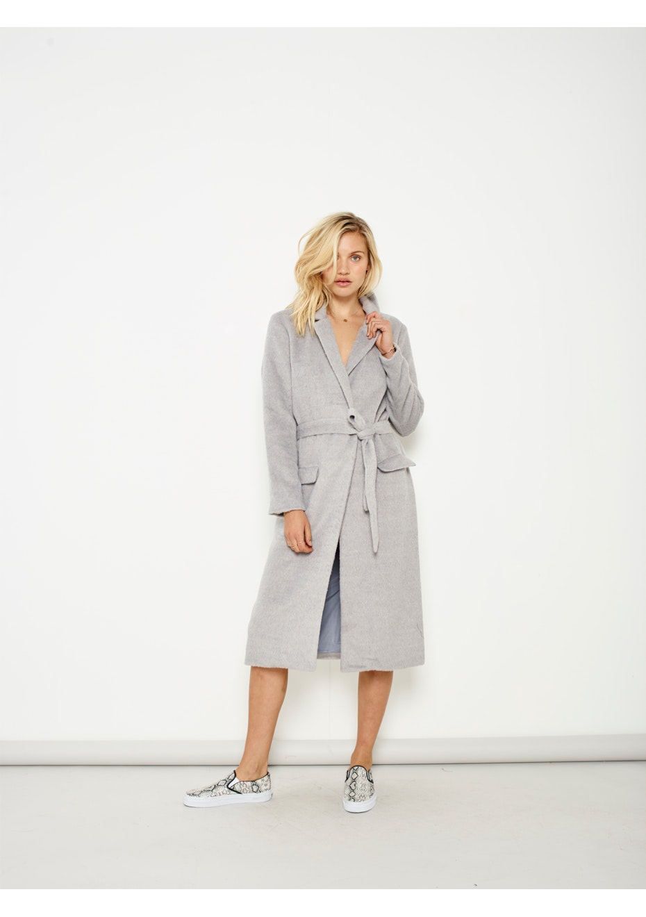 MINKPINK - In The Zone Duster Coat - Grey