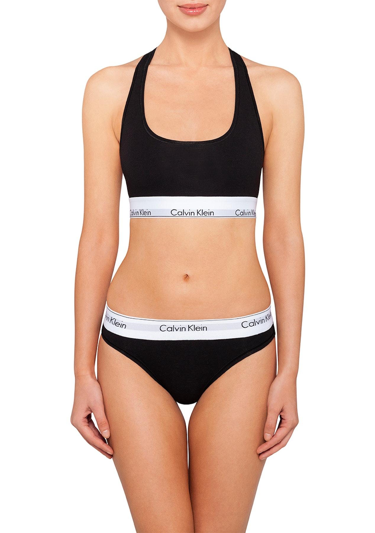 a890deb9a72 Calvin Klein - Modern Cotton Bralette - Black - Underwear Garage Sale -  Onceit
