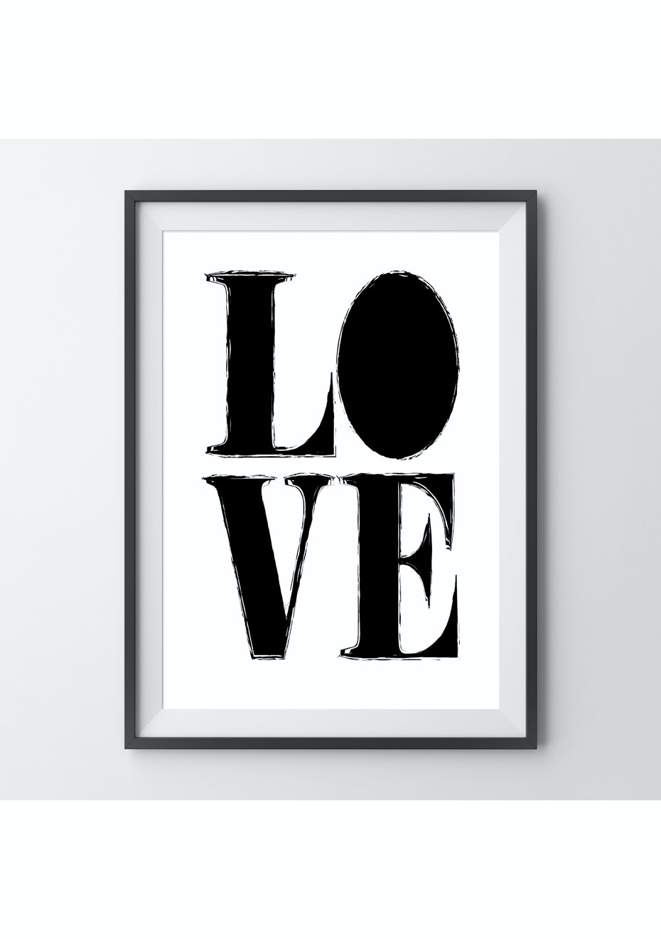 Simply Creative - Love - A4 Monochrome Print
