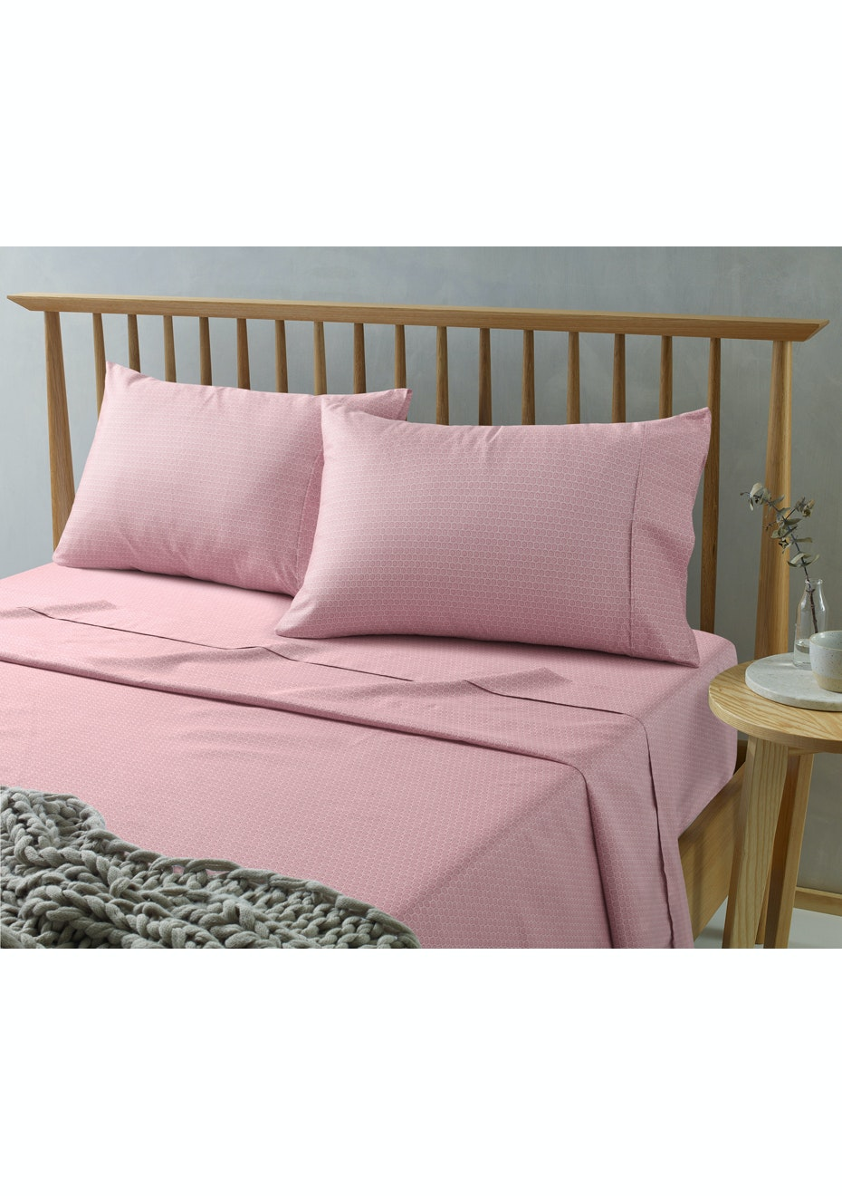 Daisy Pink Printed Microfibre Sheet Set King Bed Free Shipping Sheet Sets New Styles Onceit