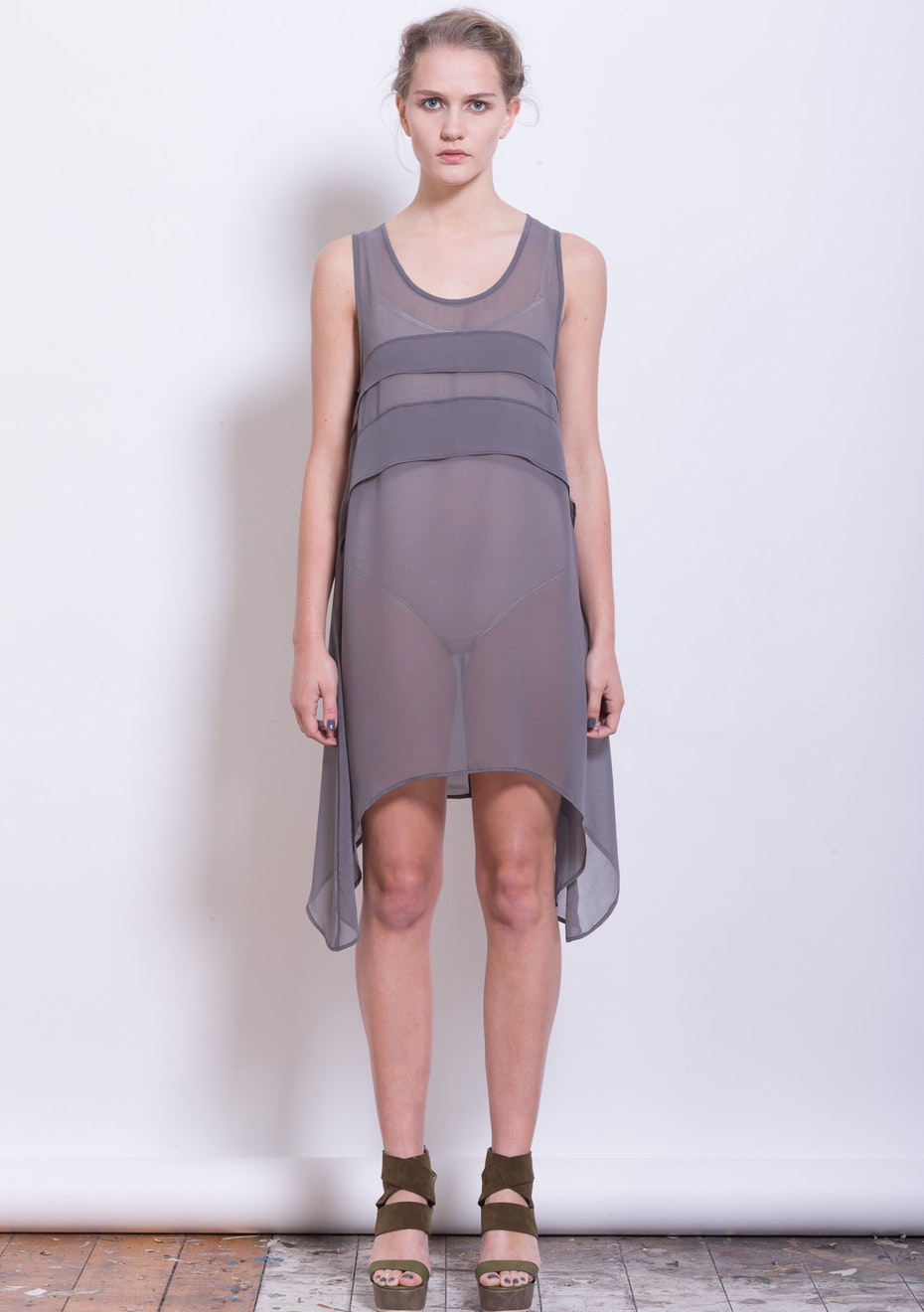X-Plain - Surrealism Dress top - Silver Stone