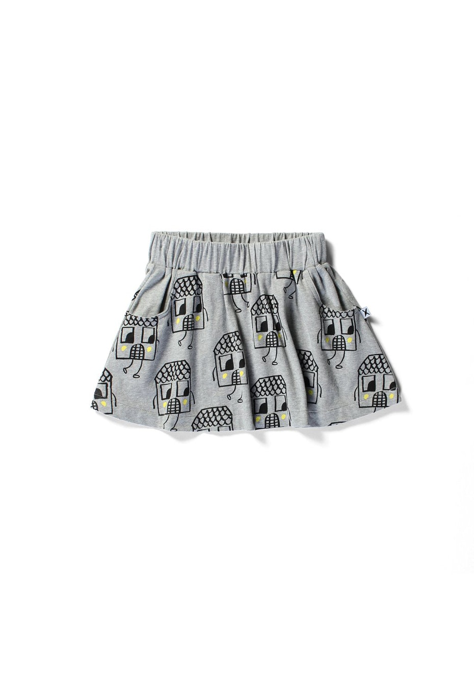 Minti - Neighbourhood - Fri Skirt - Girls - Grey Marle