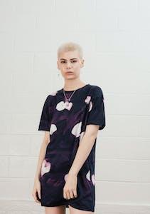 f8f452f86080e2 Stolen Girlfriends Club - Classic Tee Dress - Plum Noir Lily