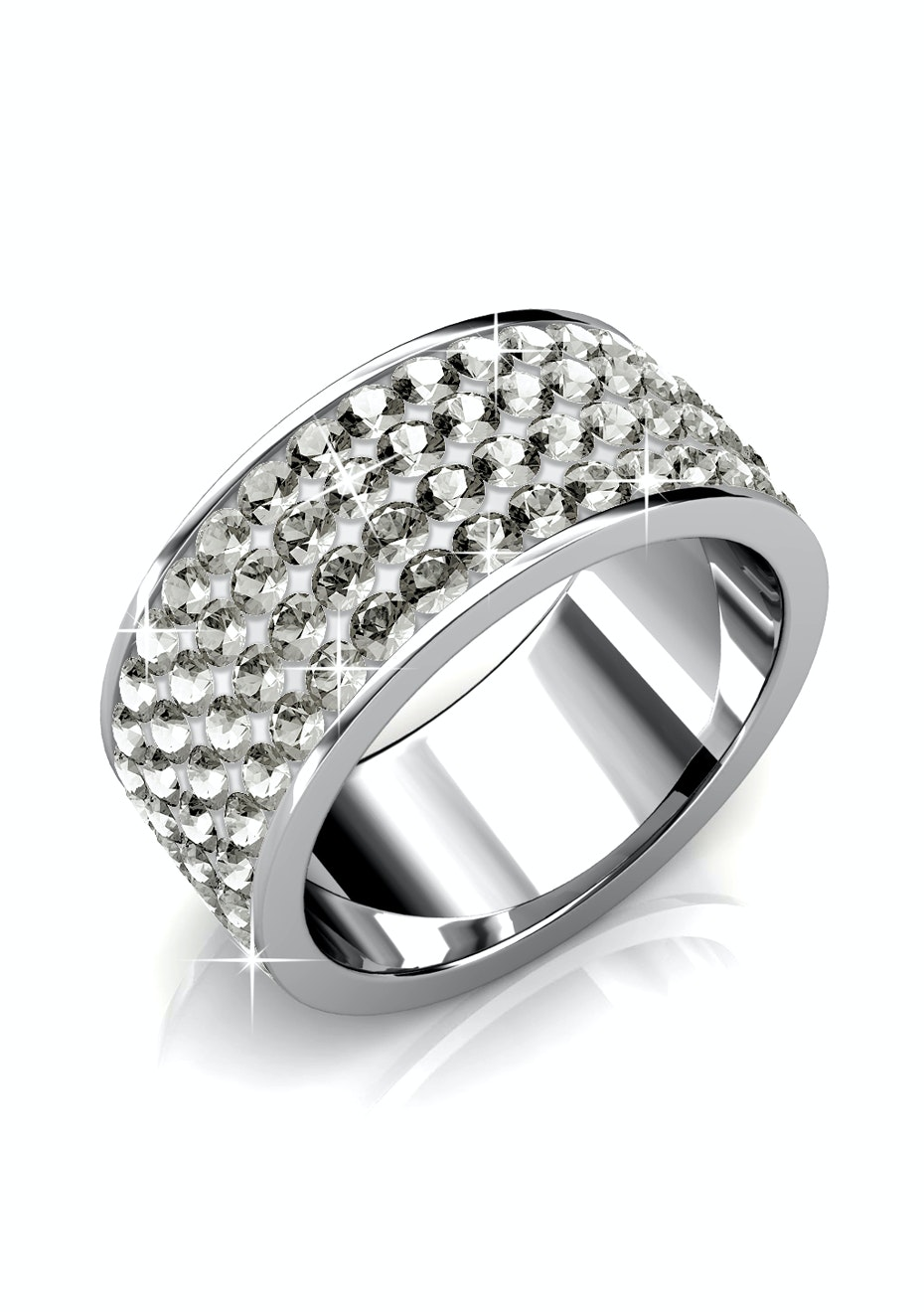 Premium Ring Embellished with Crystals from Swarovski