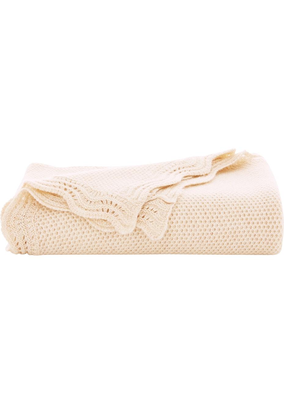 Sheridan - Beesie - Wool Blend Pram Blanket - Sand
