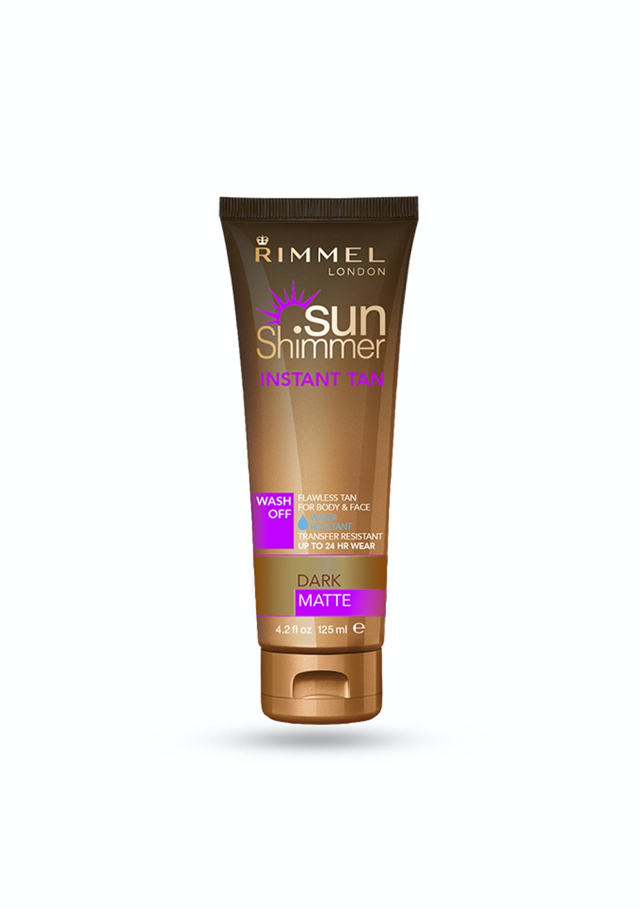 Rimmel Sun Shimmer Wash Off WR Instant Tan 125ml Dark Shimmer