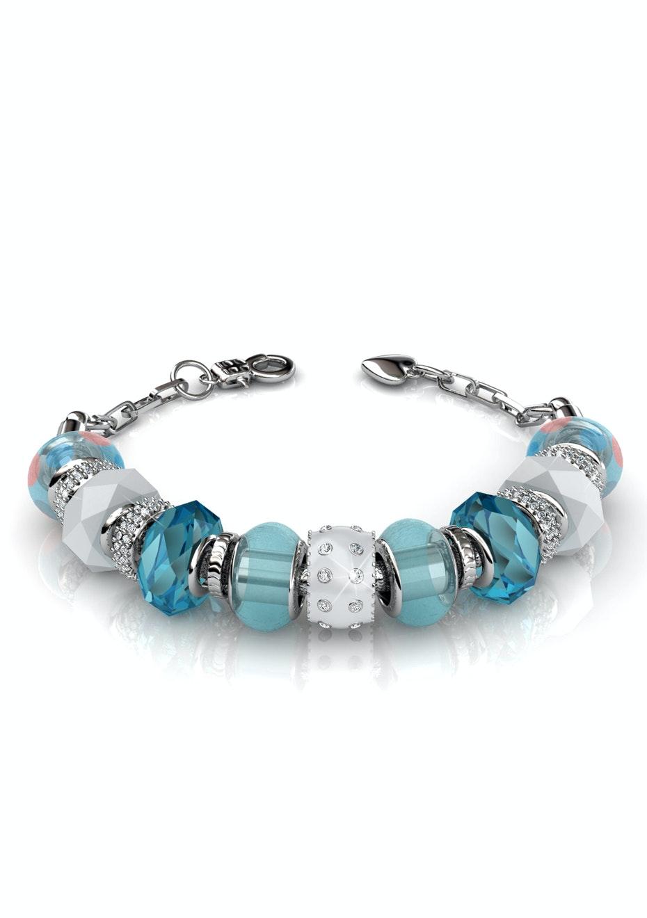 Charm bracelet set Ft Swarovski Elements