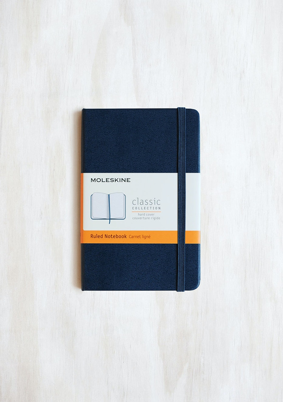 Moleskine - Classic Hard Cover Notebook - Ruled - Pocket - Sapphire Blue