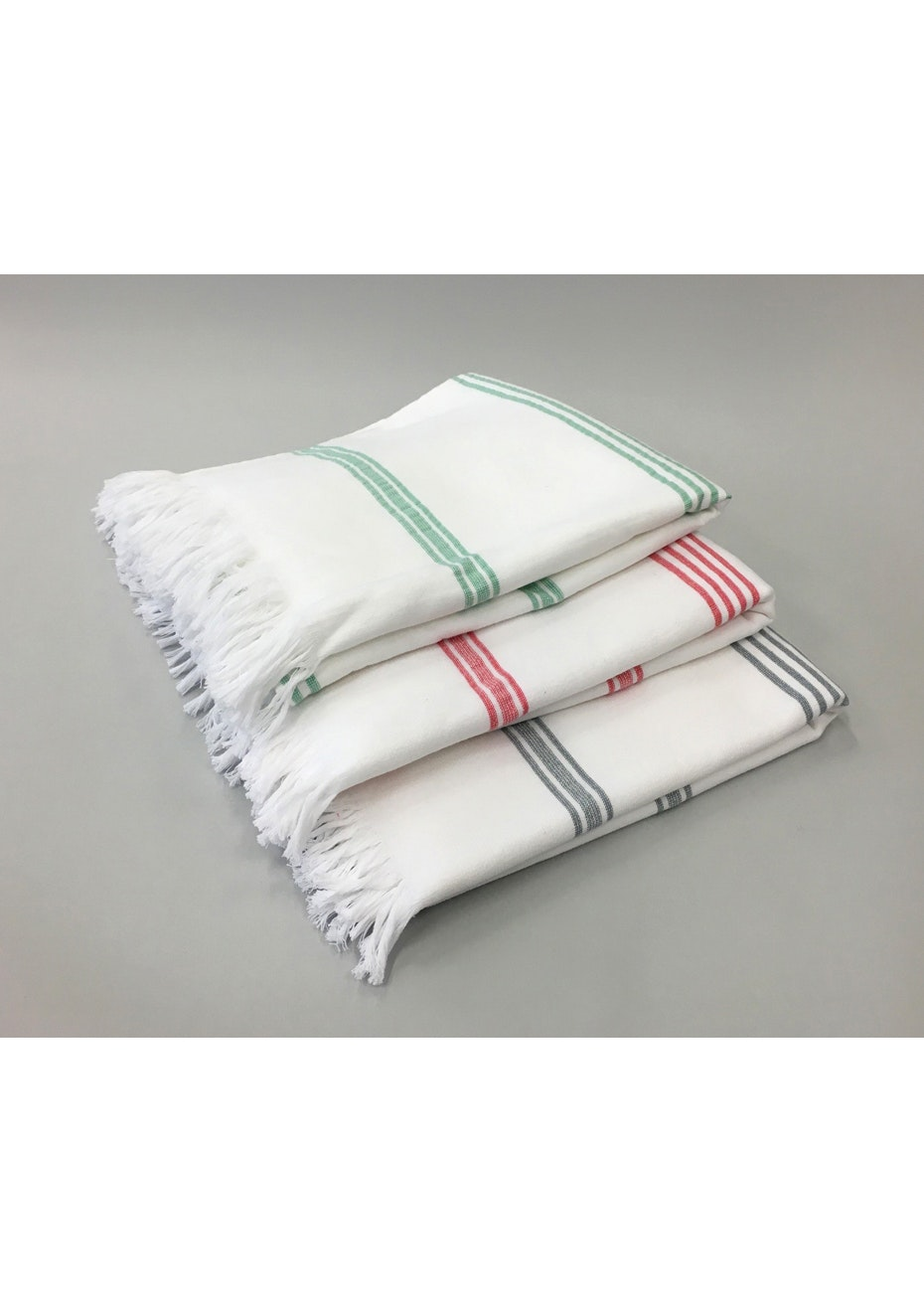 6 Pack Stripe Cotton Turkish Towel - 2 of each Striped Towel