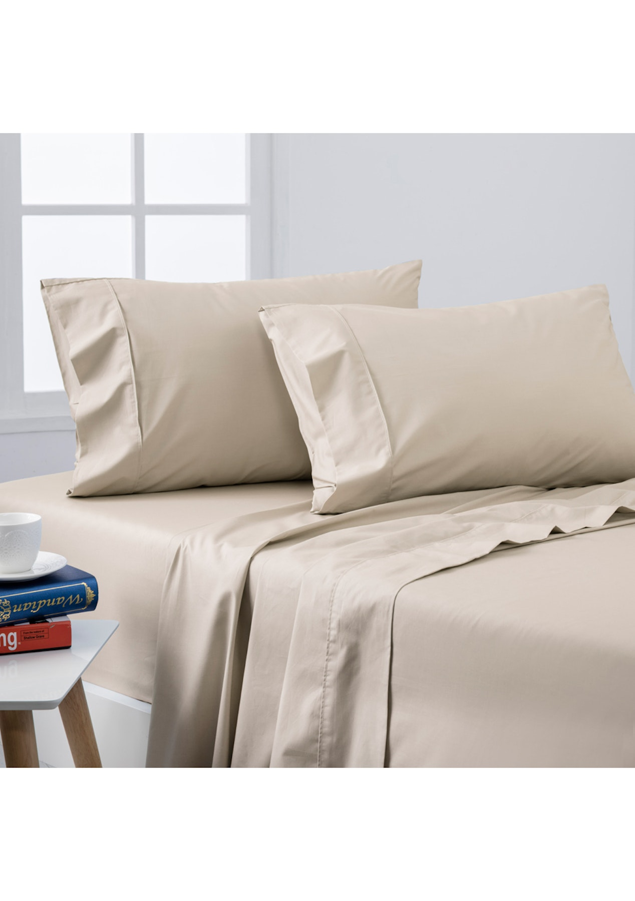Dreamaker Coolmax Sheet Set Kb Latte Under 60 Egyptian Cotton Duvet Covers Onceit