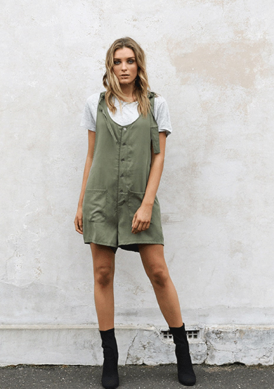 Madison - AKIRA PLAYSUIT - KHAKI