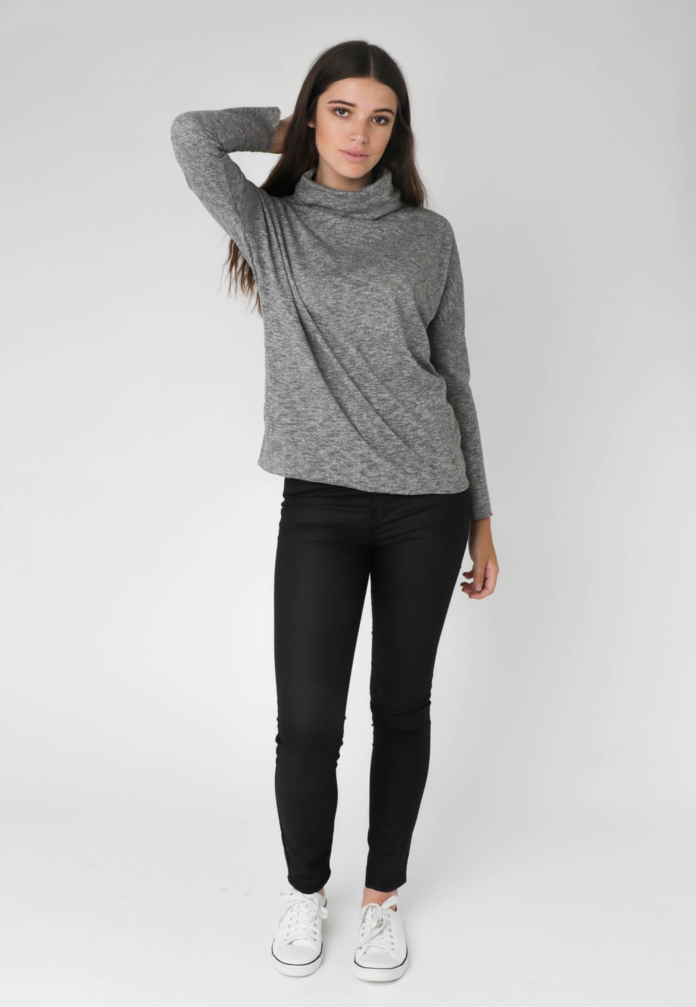 All About Eve - Tee Mythical L/S - Grey Marle