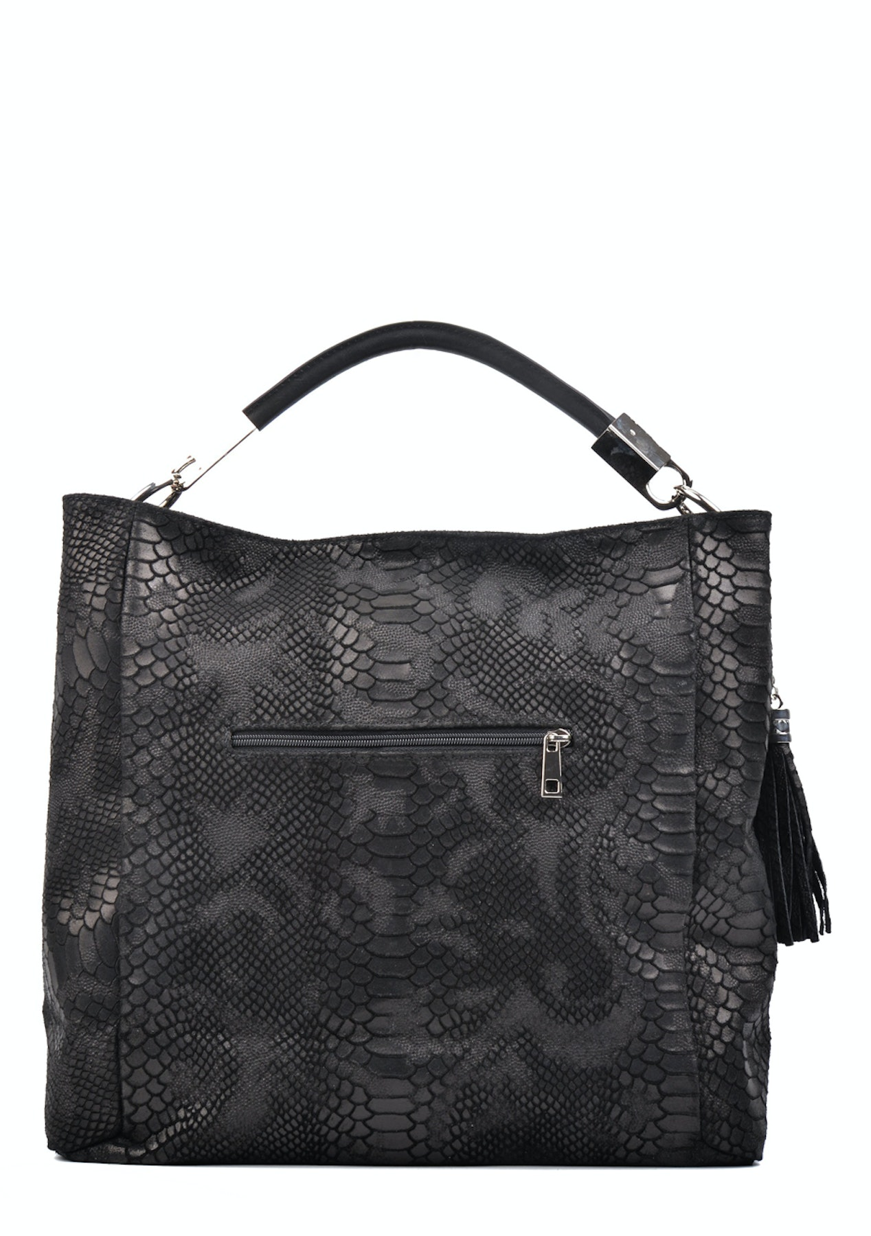 2a099c7db2 Carla Ferreri - Hobo Bag - Nero - Monochrome Leather bags up to 74% off -  Onceit