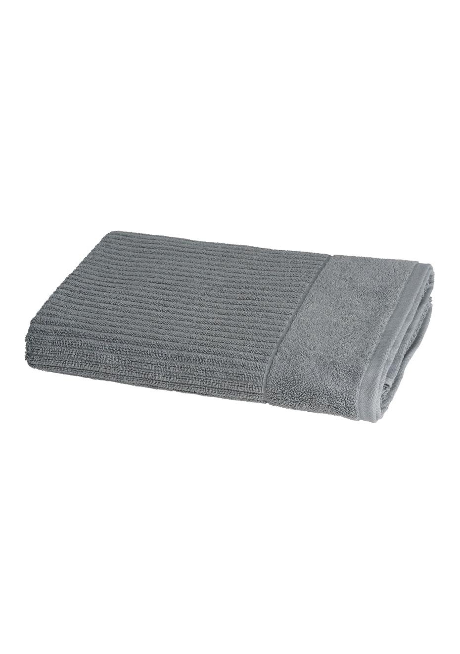 Conran Signature Rib Bath Sheet Concrete
