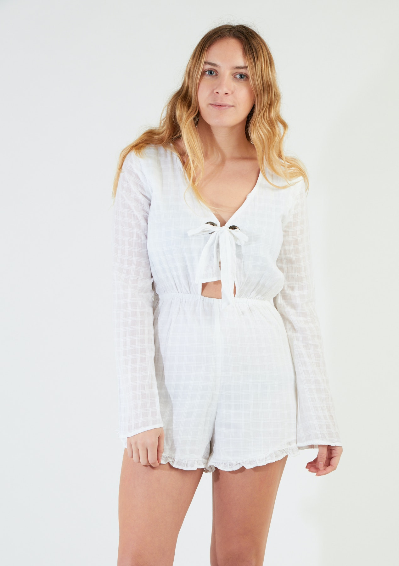 a23278c61e04 All About Eve - Avery Playsuit - White - Shopping Spree Womens Under  50 -  Onceit