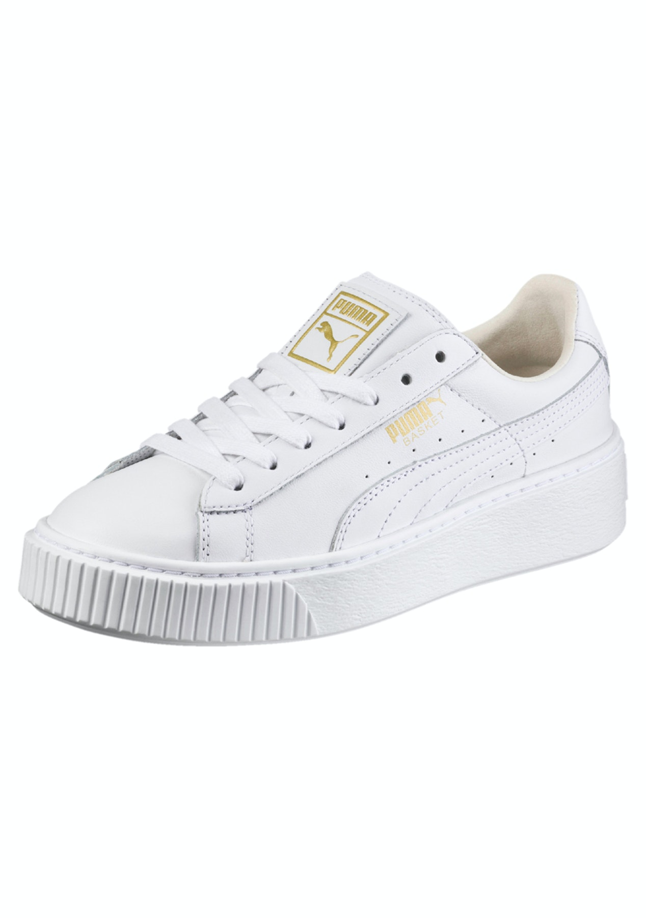 b802cac03f4 Puma Womens - Basket Platform Core White - Gold - Activewear Outlet - Onceit