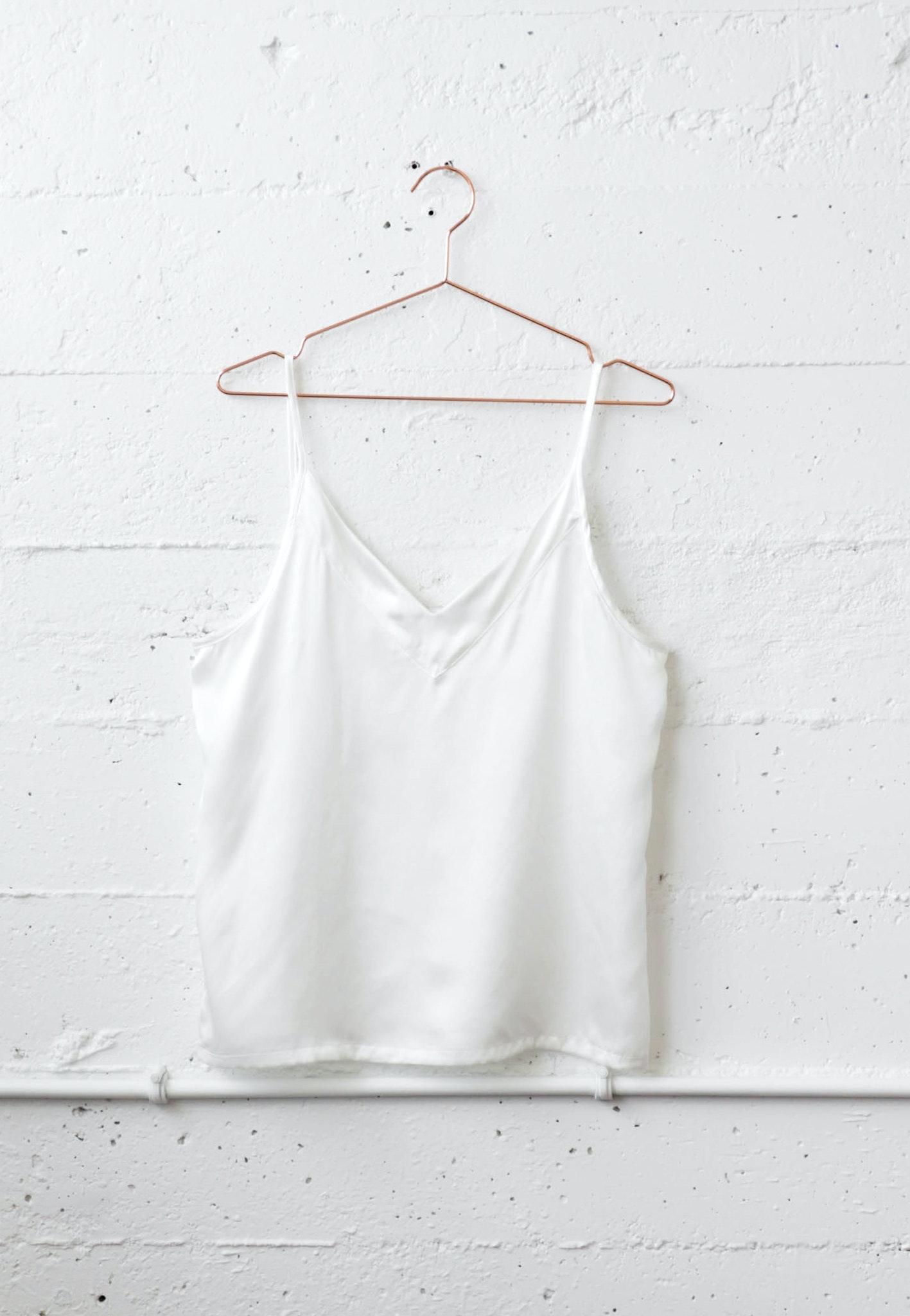 SLUMBER 100% SILK CAMI - Off White