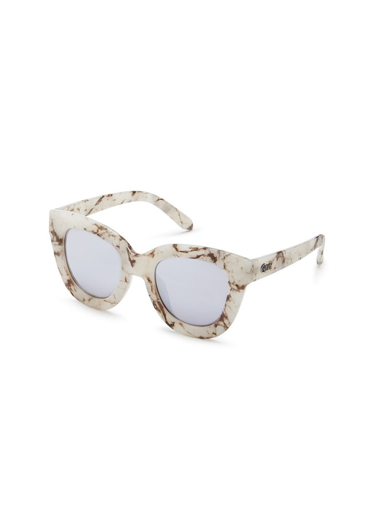 99f59ef2f92 Quay - Sugar And Spice - White Marble   Silver Mirror - Eyewear   Accessory  Reductions - Onceit
