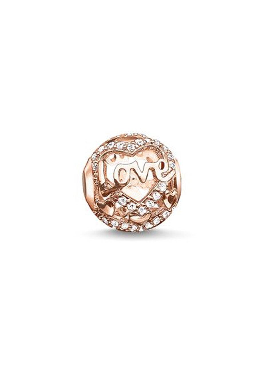 Thomas Sabo  - Karma Bead - Love Cz Rose Gold Plated