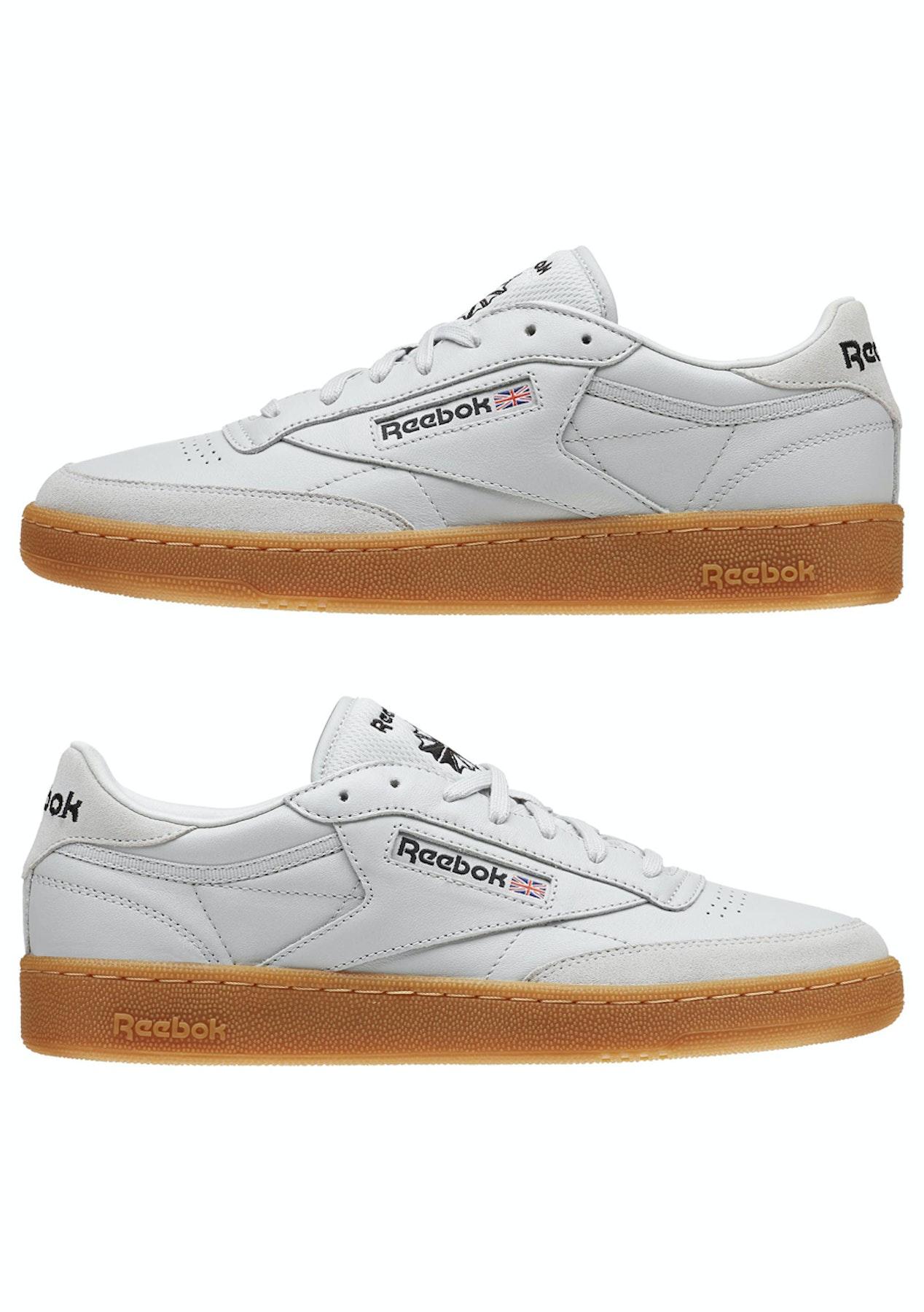 543ab6fc87b Reebok Mens - Club C 85 Tdg Skull - Skull Grey   Black   Canyon Red   Gum -  Big Brand Mens Shoes - Onceit