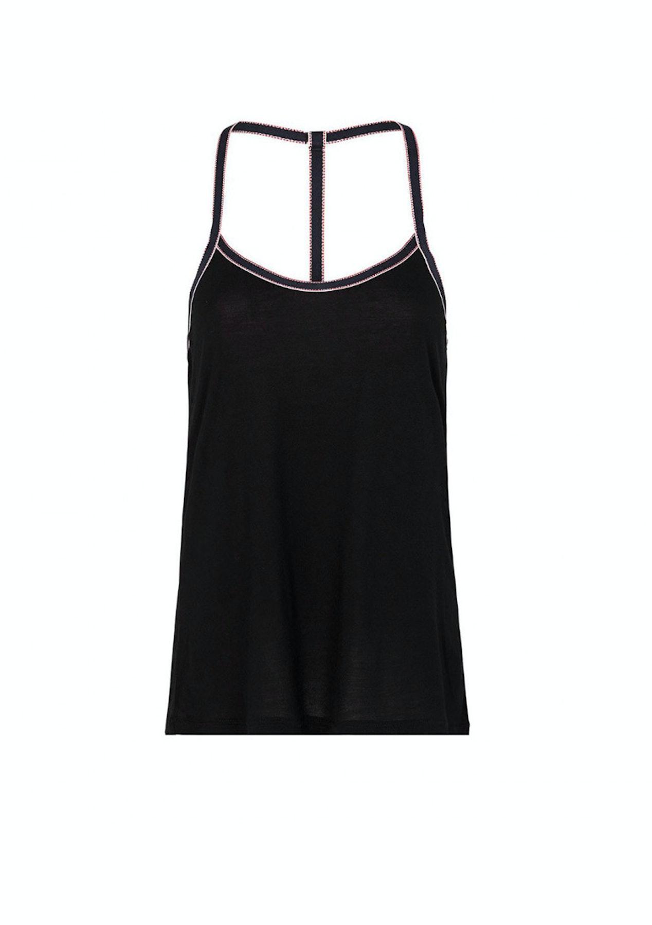 f09a85a7d0f6d Lovable Womens Sleepwear - Nautical Stripes Slvls Top Singlet - Black True  Nv White Rio Red