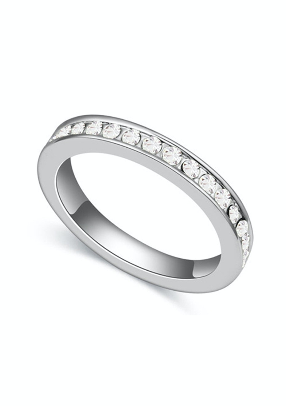 Stackable Pave Ring Embellished with Crystals from Swarovski -CLR