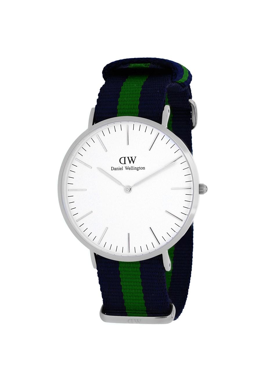 Daniel Wellington Men's Classic Warwick - White/Two-tone Navy B