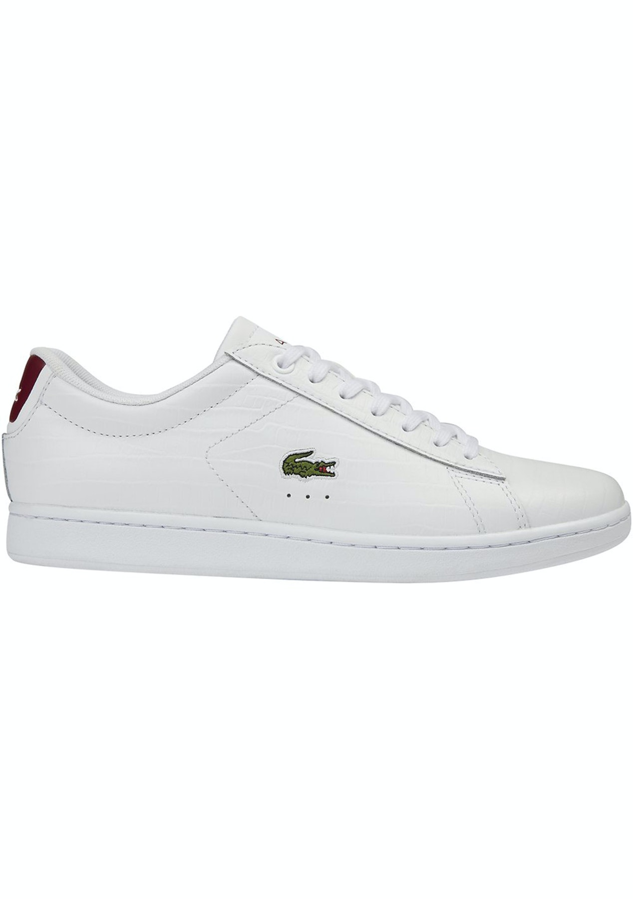 20e4d7d6a Womens Lacoste - Carnaby Evo G316 8 - White Red - Best Selling Shoes -  Onceit