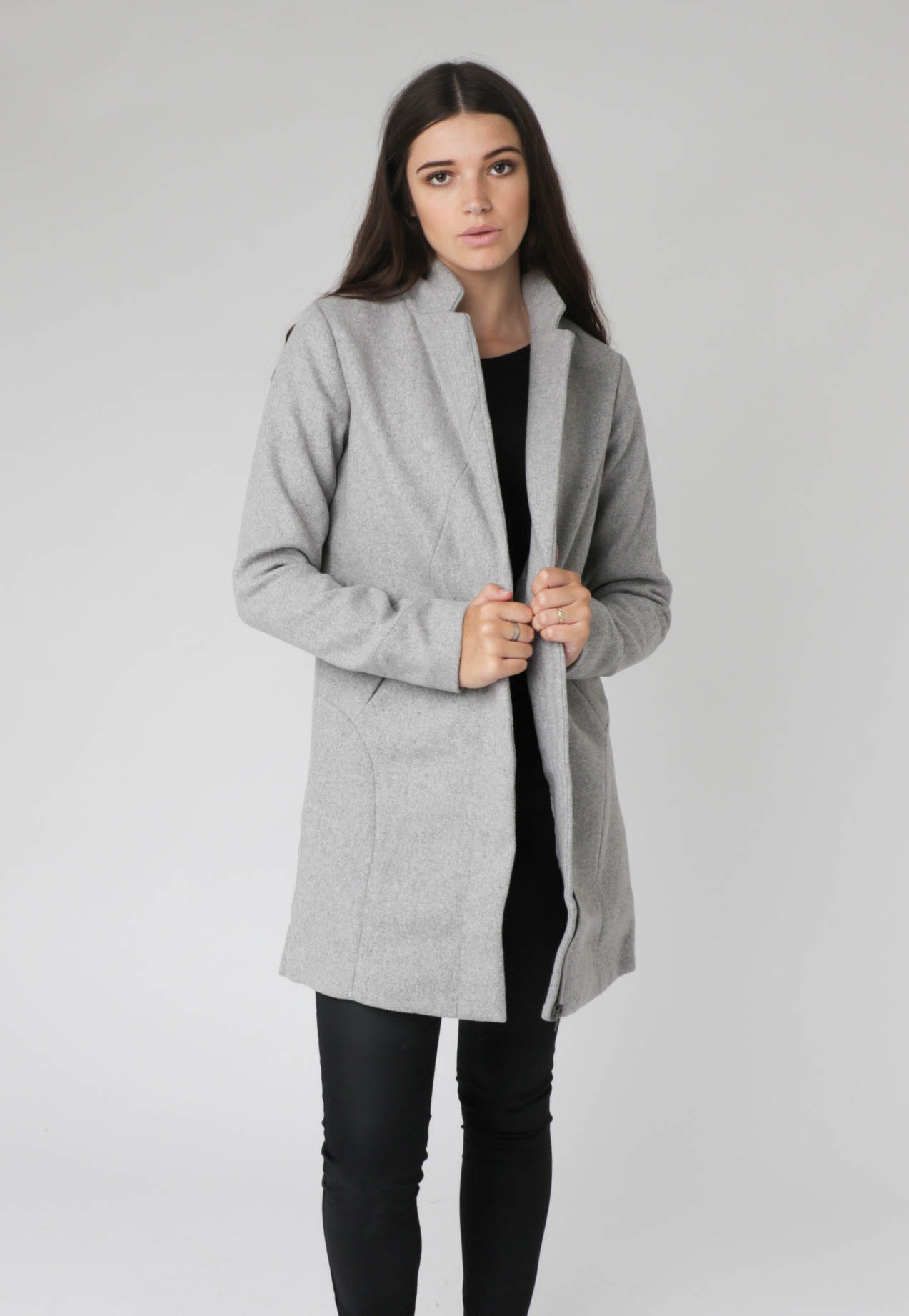 All About Eve - Jammin Coat - Grey Marle