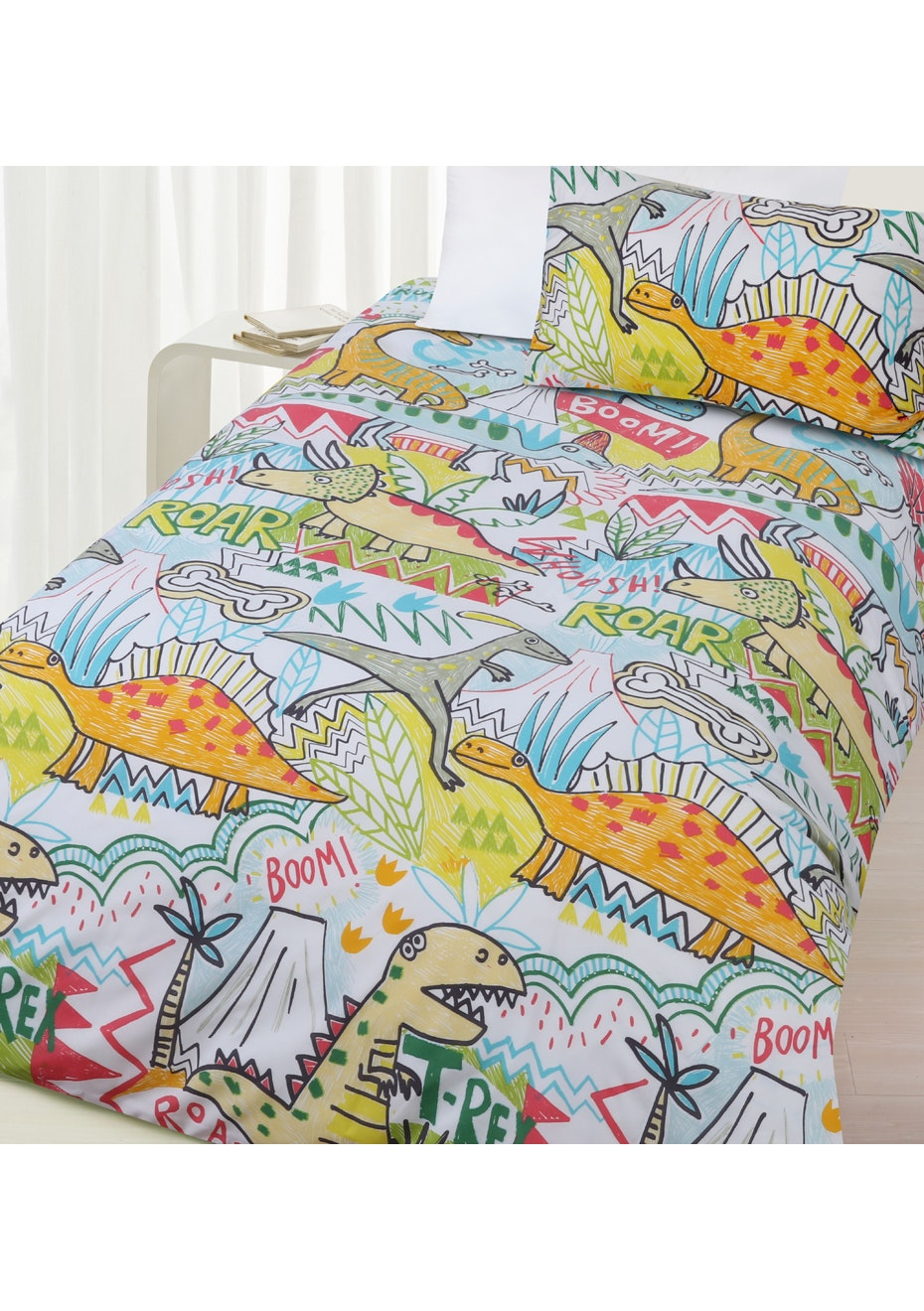 Roar City Glow in the Dark Quilt Cover Set - Double Bed