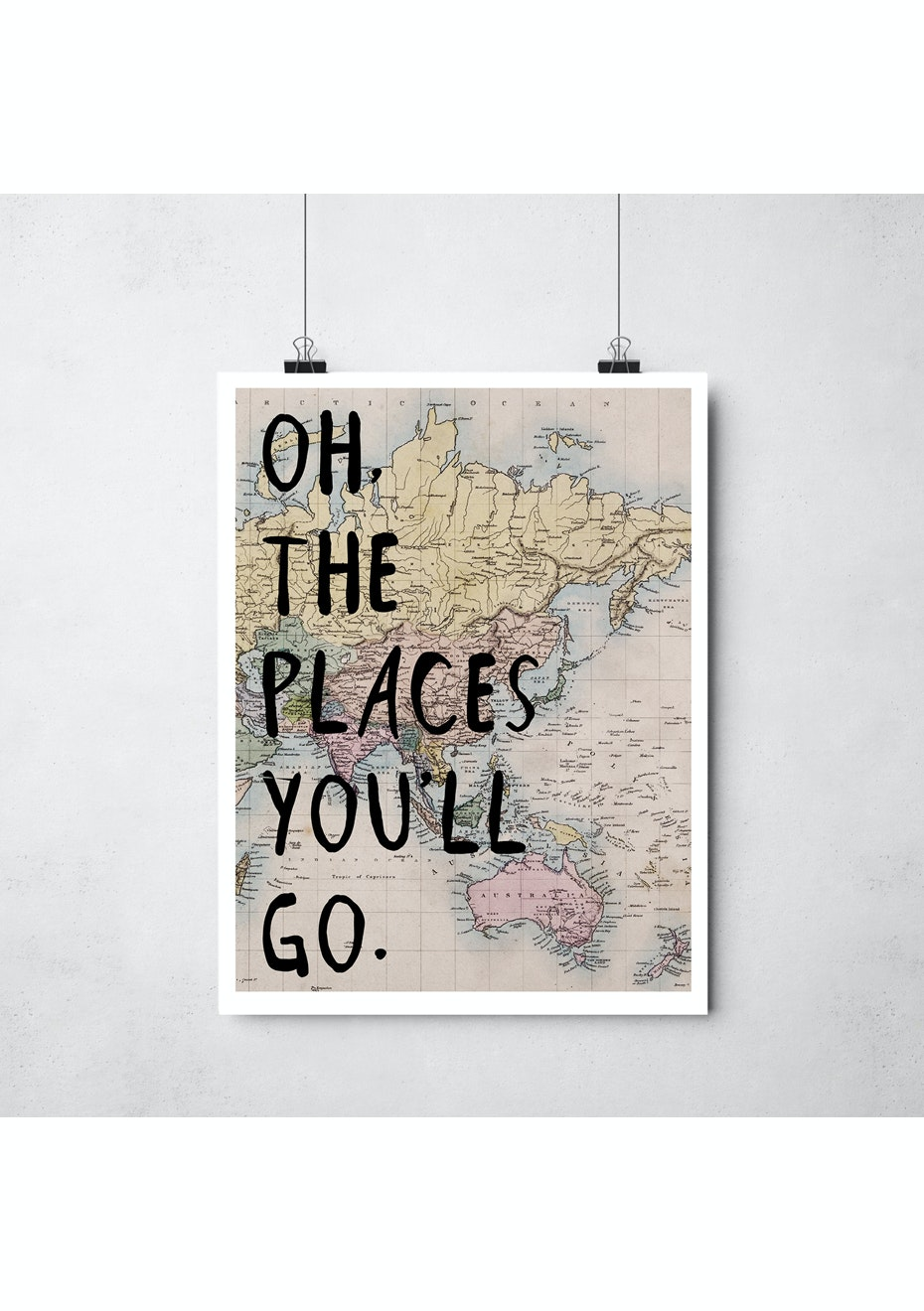 Simply Creative - Places You'Ll Go - A3 Colour Print