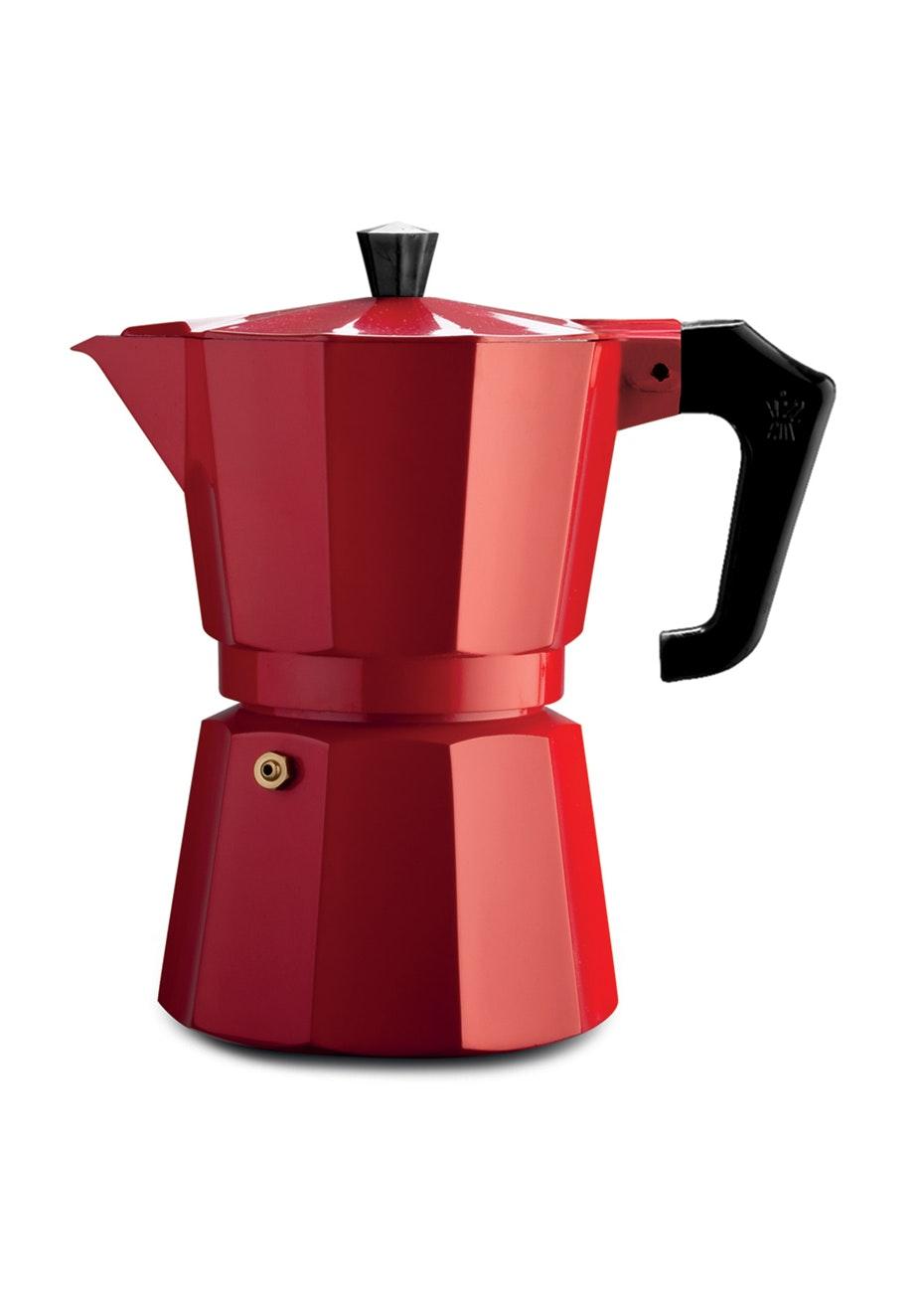 Pezzetti Red Italexpress Aluminium Coffee Maker 3Cup