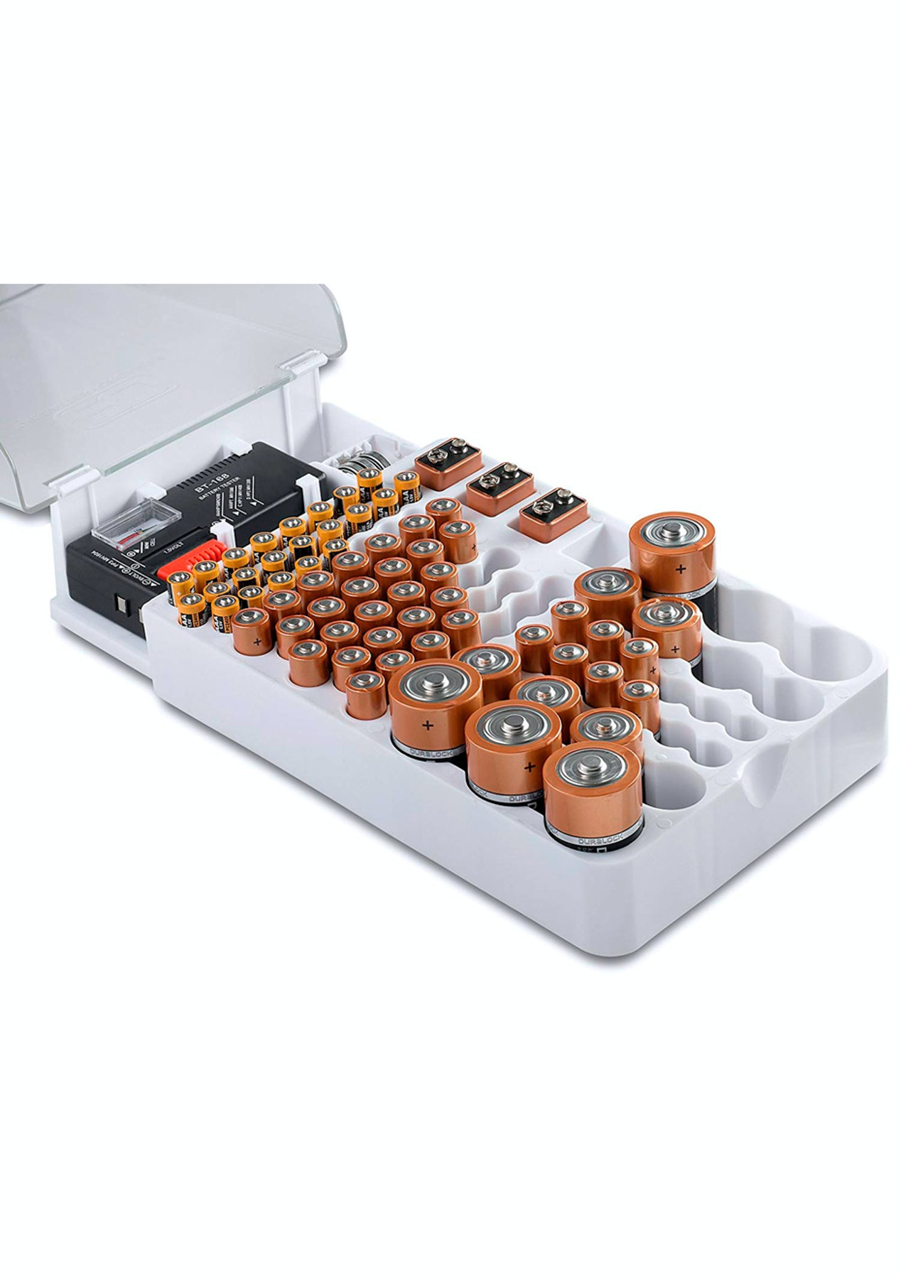 best loved 4146f b0a07 93pc Battery Organizer Storage Case with Tester