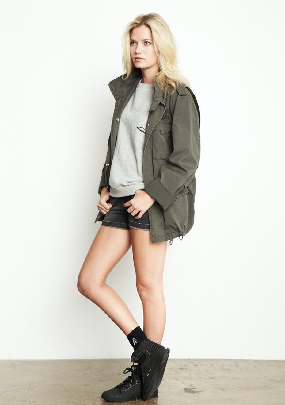 Achro - Oversized Military Jacket  - Olive