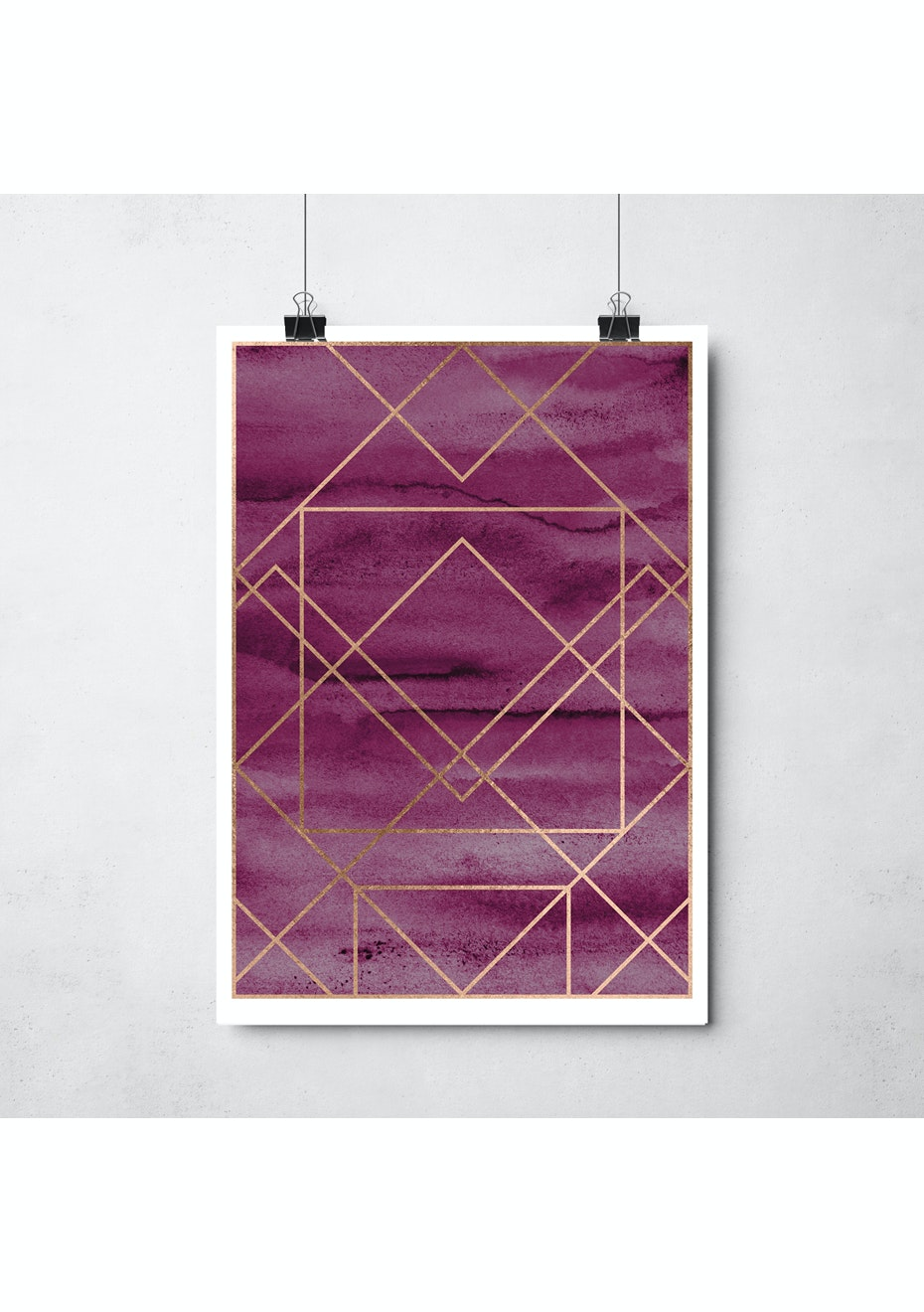 Simply Creative - Tourmaline - A3 Copper Foil Print