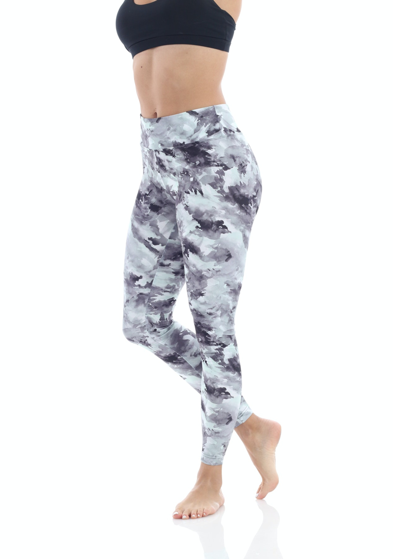 2d811f98222d46 Balance By Marika - Sanded Dry-Wik Printed Legging - 3B8 Grn Applemint M -  The Big Rummage Rack from $10 - Onceit