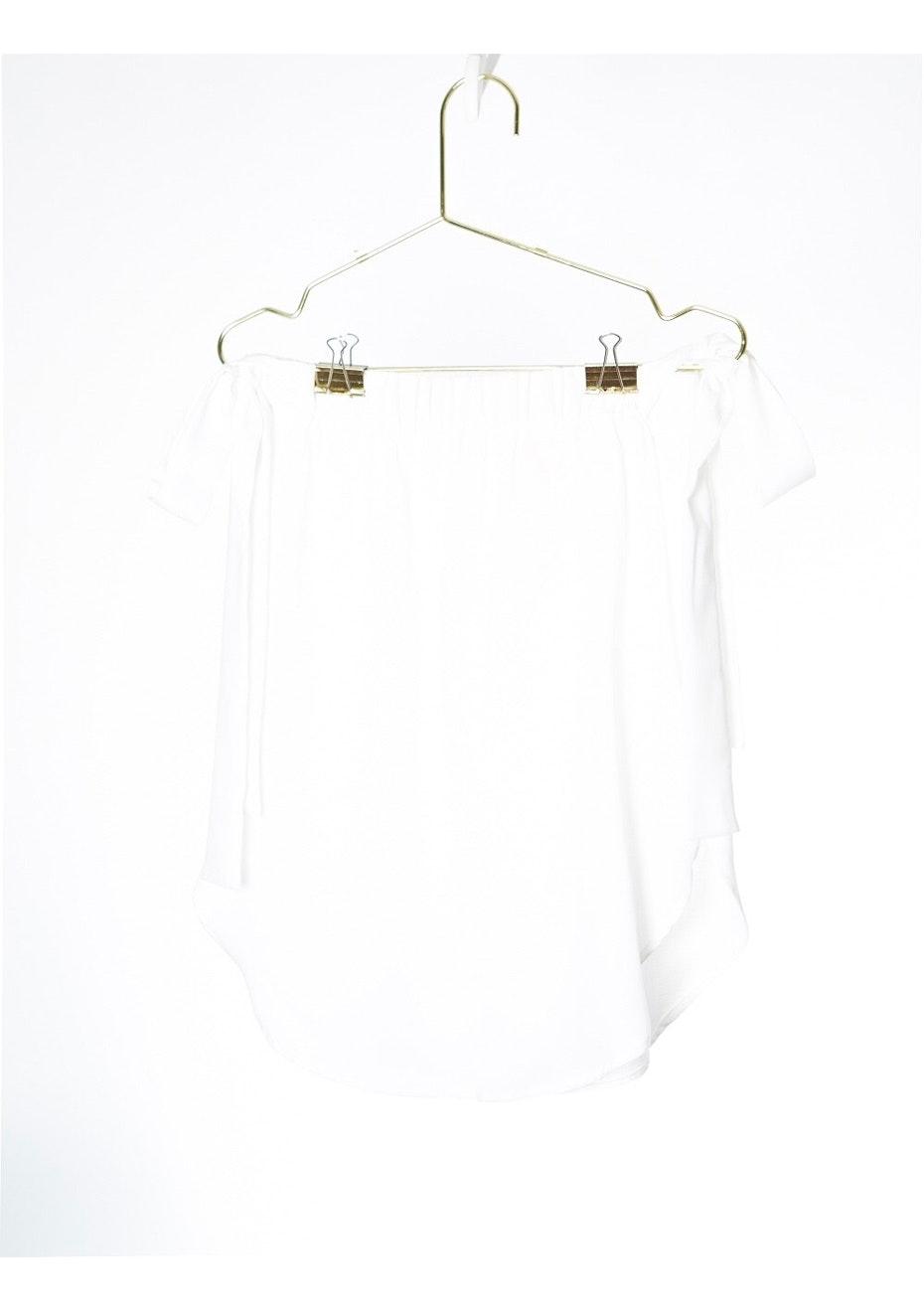 AMELIA TIE TOP  - WHITE