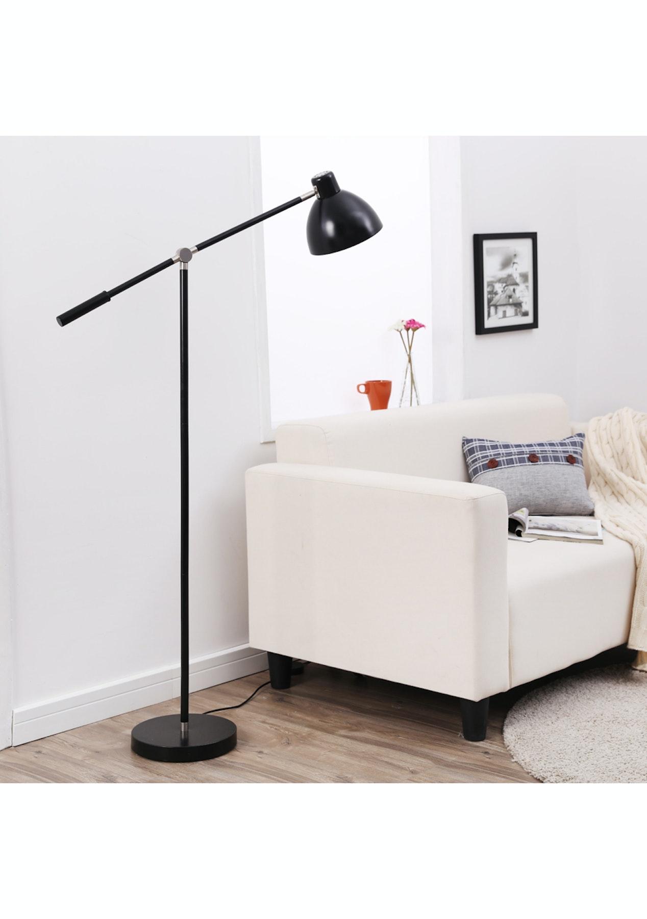 Sherwood Lighting Balance Metal Floor Lamp Black