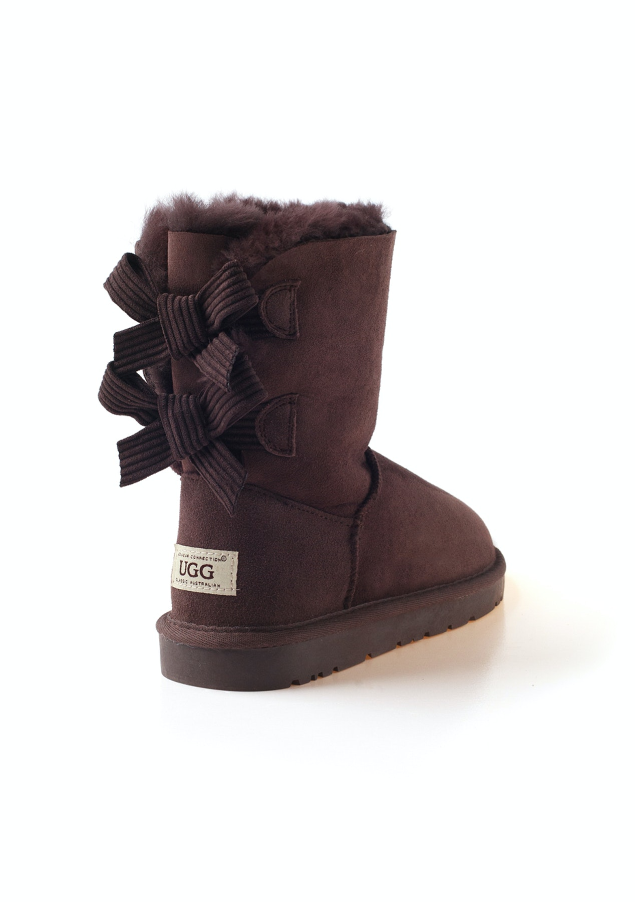 53b789bcb67fd Ozwear - Ugg Bailey Bow Corduroy Boots (Water Resistant) - Chocolate - Last  One Left - Onceit