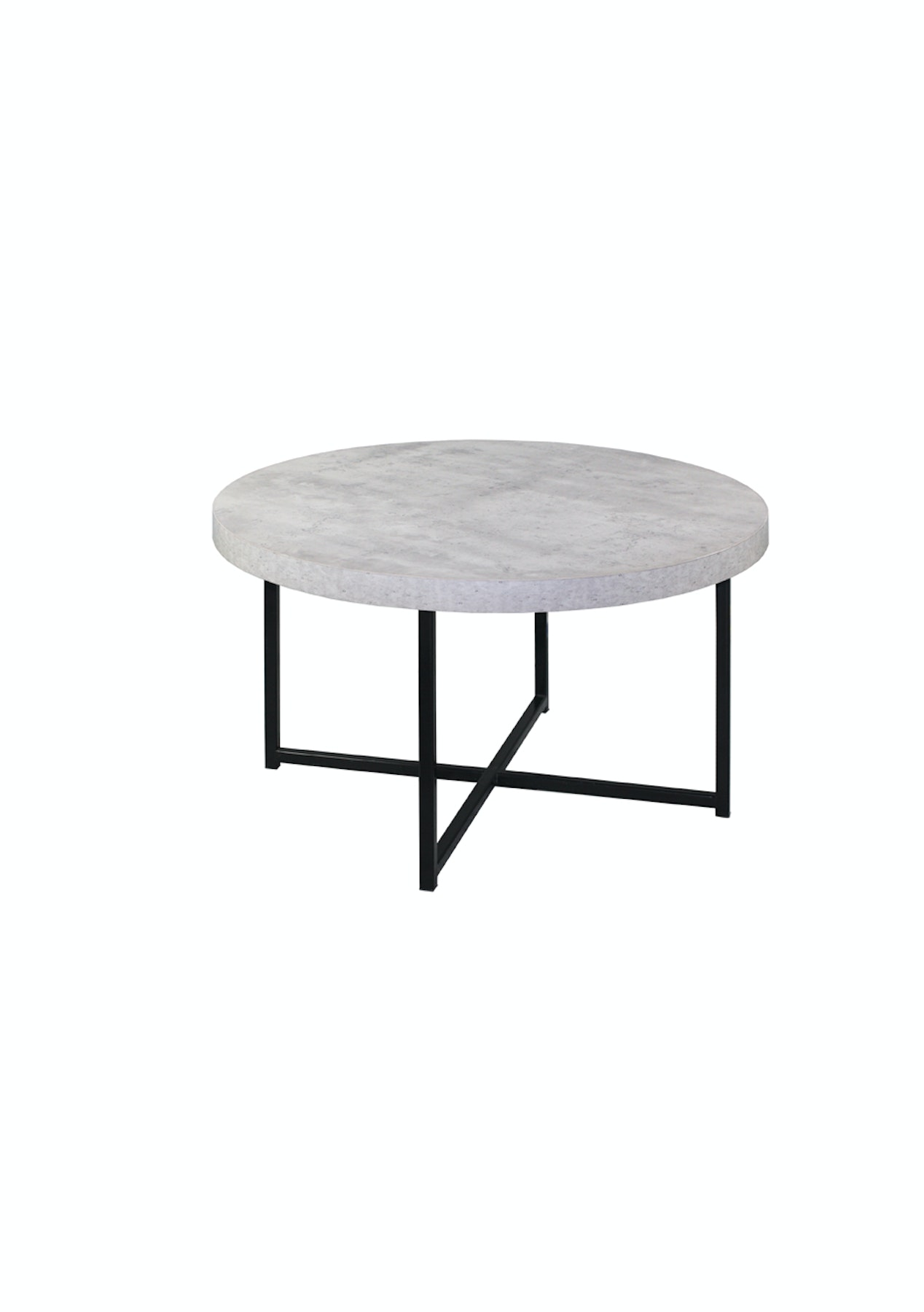 Harper Faux Concrete Coffee Table With Metal Legs Black Side Tableore Onceit