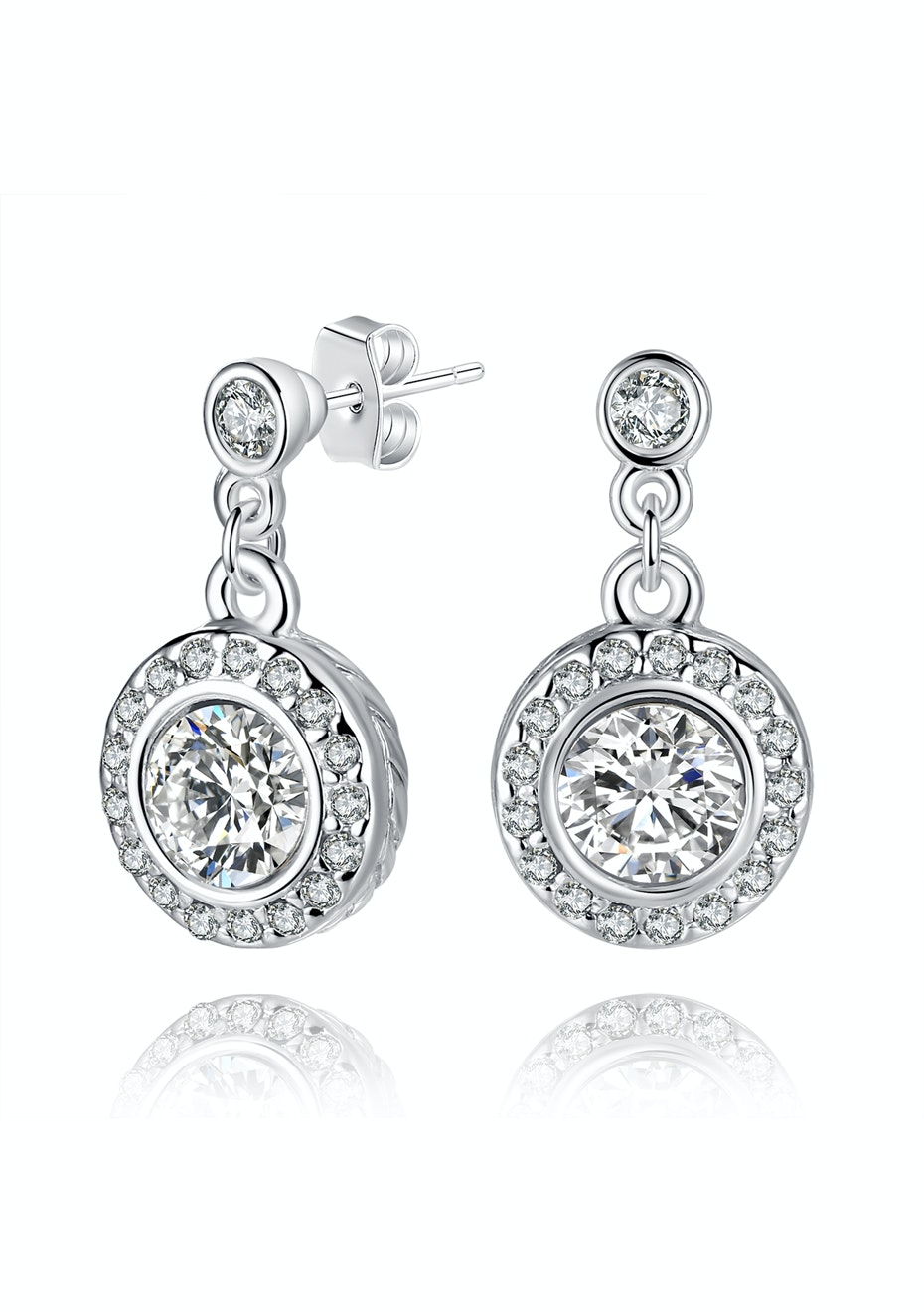 Earrings Embellished with Crystals from Swarovski