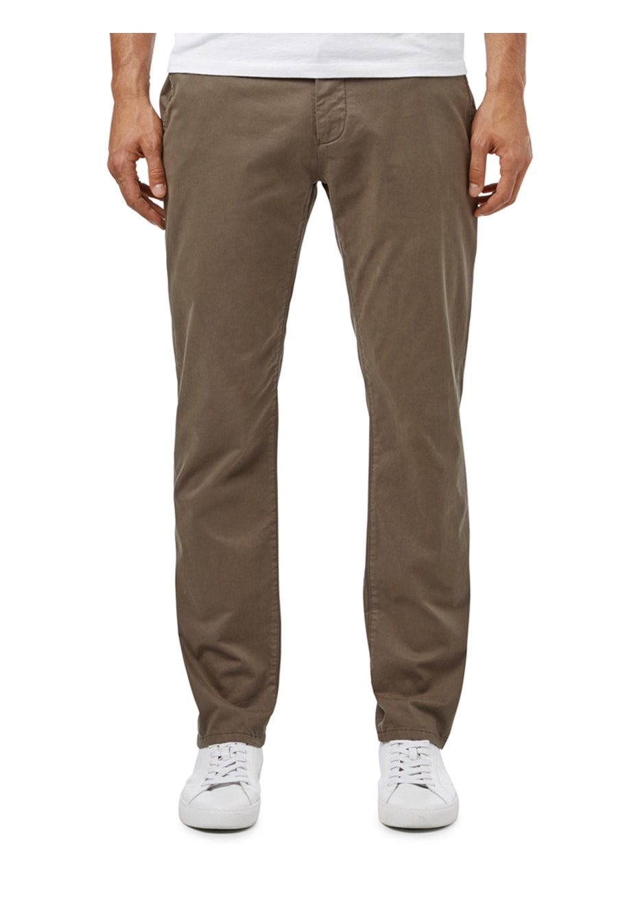 French Connection - Roger Regular Chino Pant - Burnt Aubergine