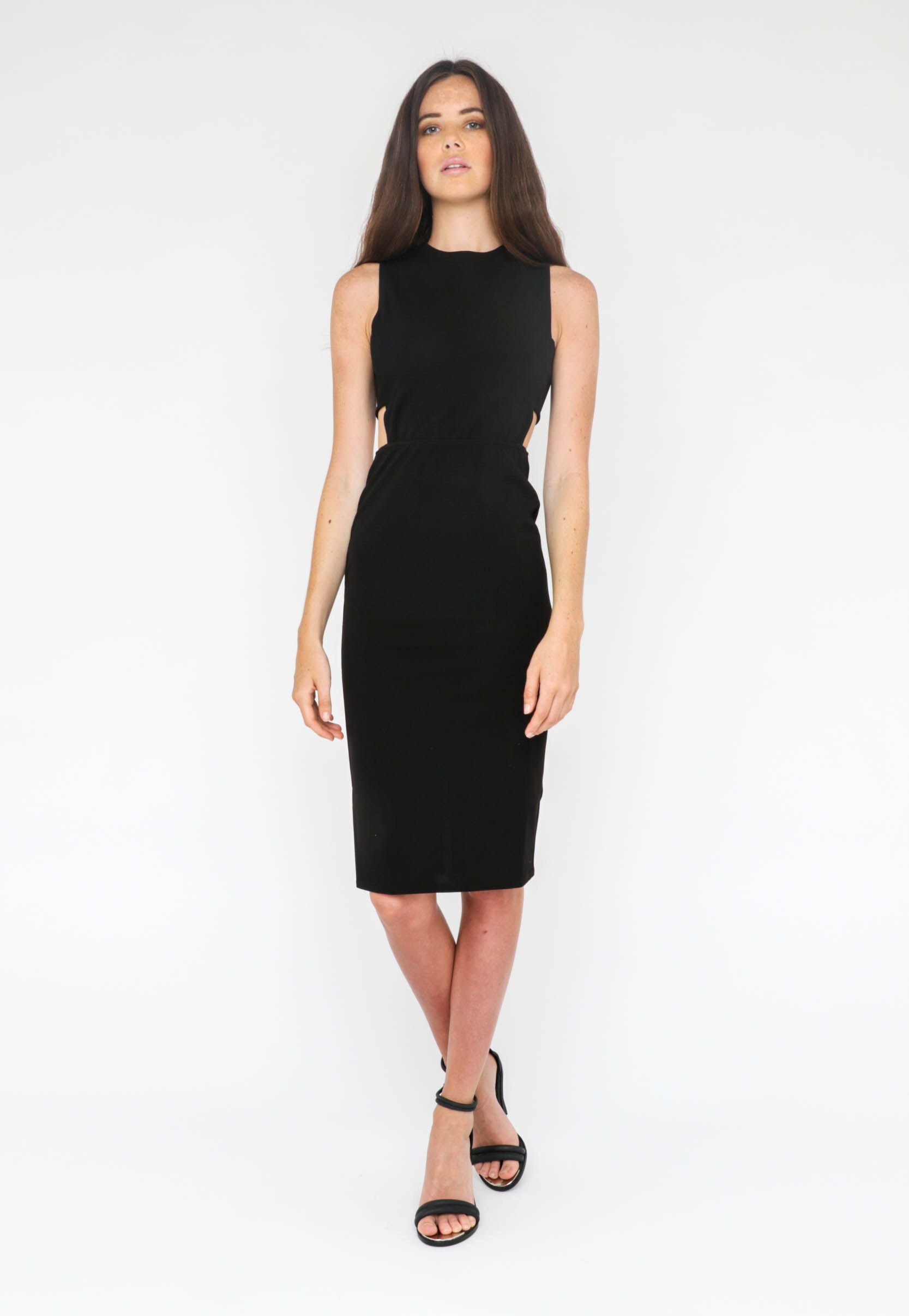 Jorge - Dress Crimson Midi - Black