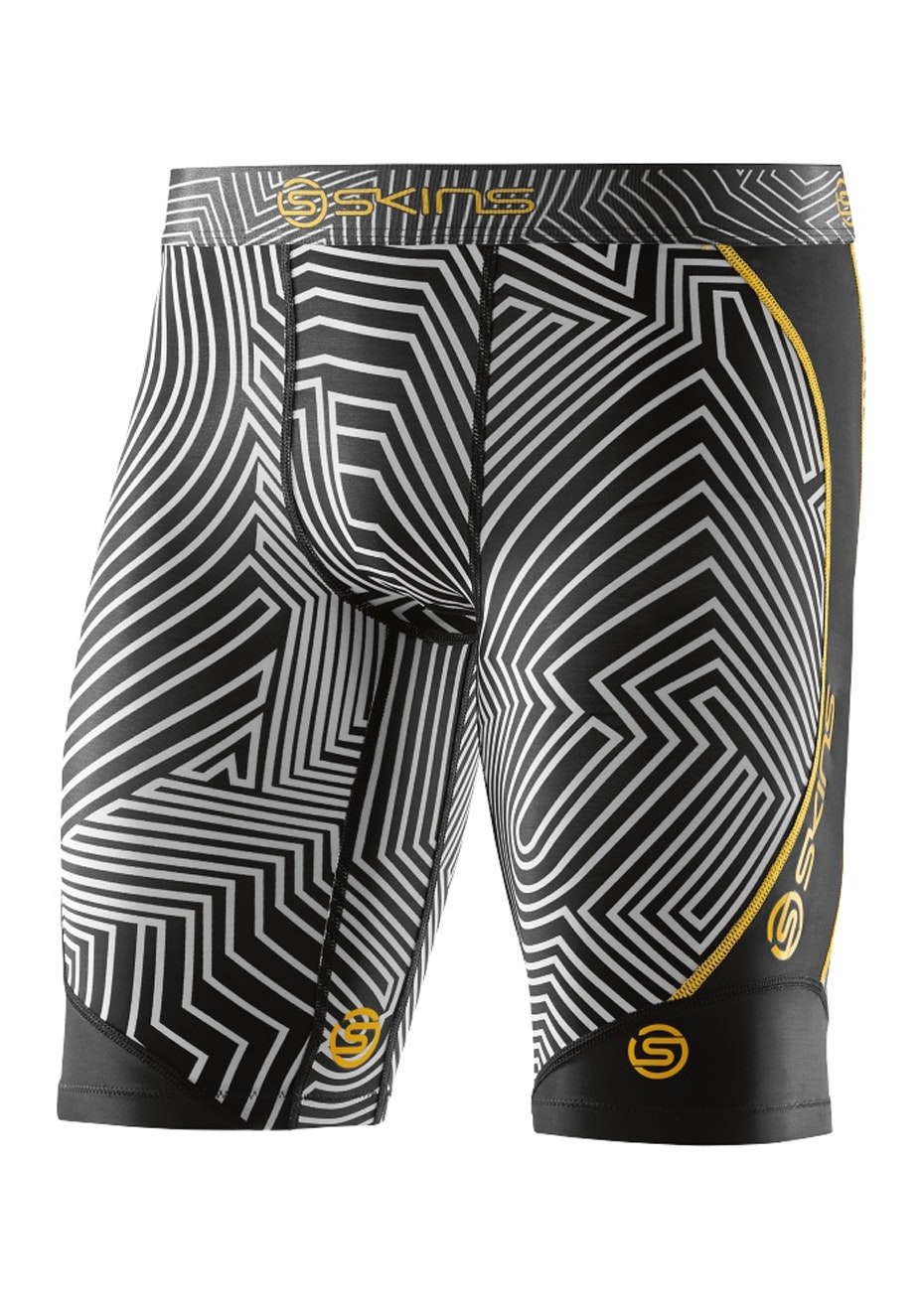 Skins Mens DNAmic  Broken Maze 1/2 Tights - Broken Maze