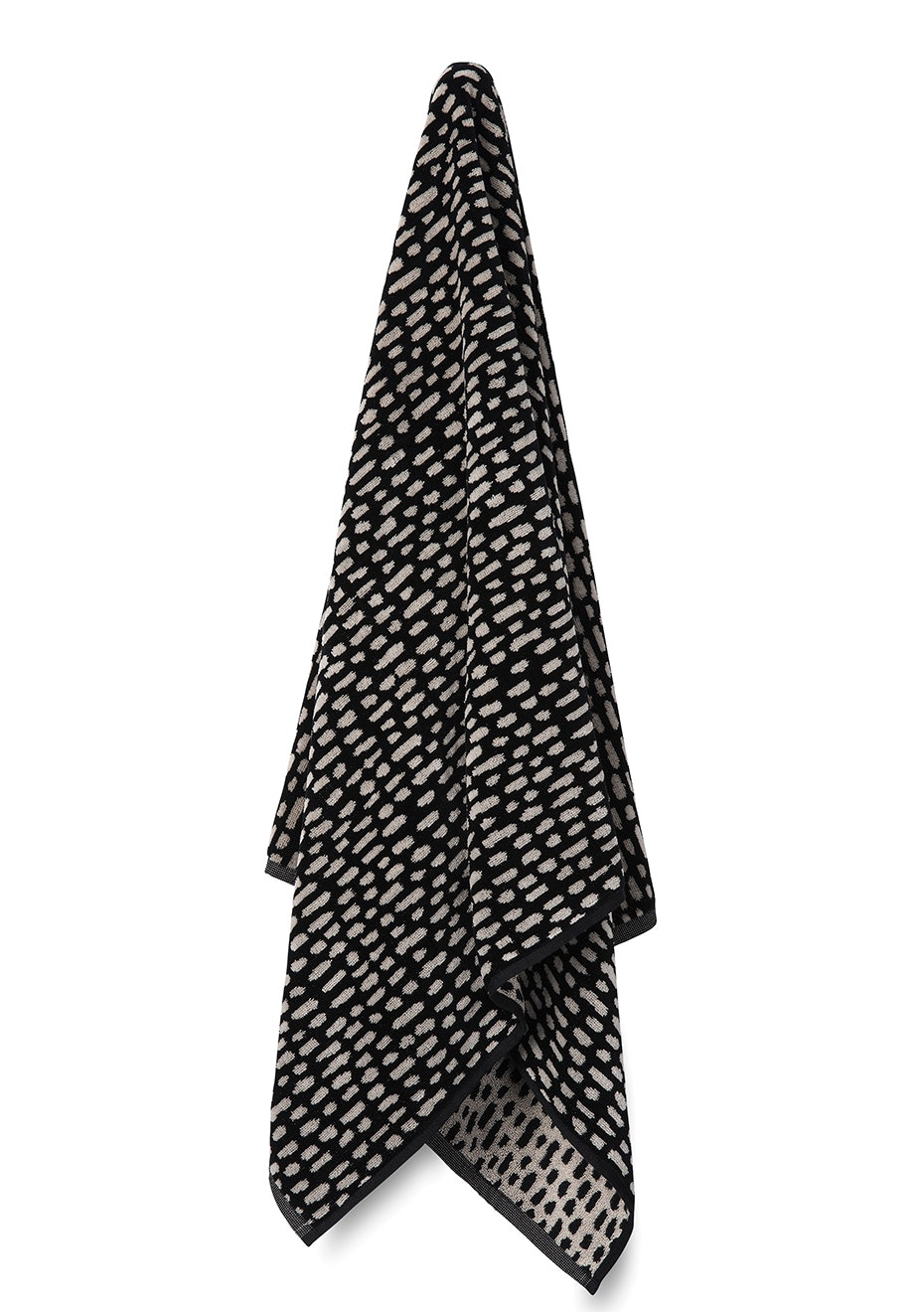 Città - Nasiji Velour Bath Towel Bone/Black  70x140cm