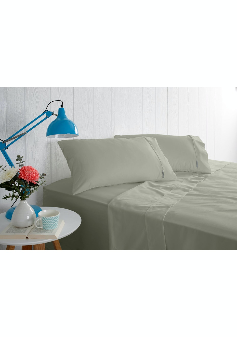 Odyssey Living 1000 Thread Count – Cotton Rich Sheet Sets - Slate - Queen Bed
